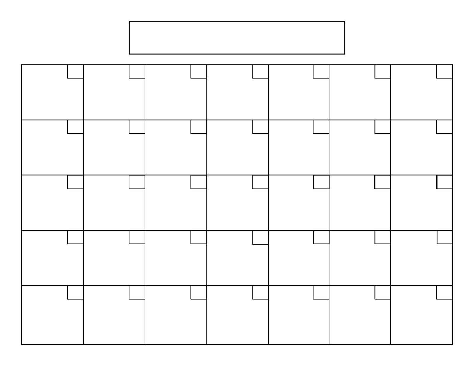 Printable Calendar 8 X 11