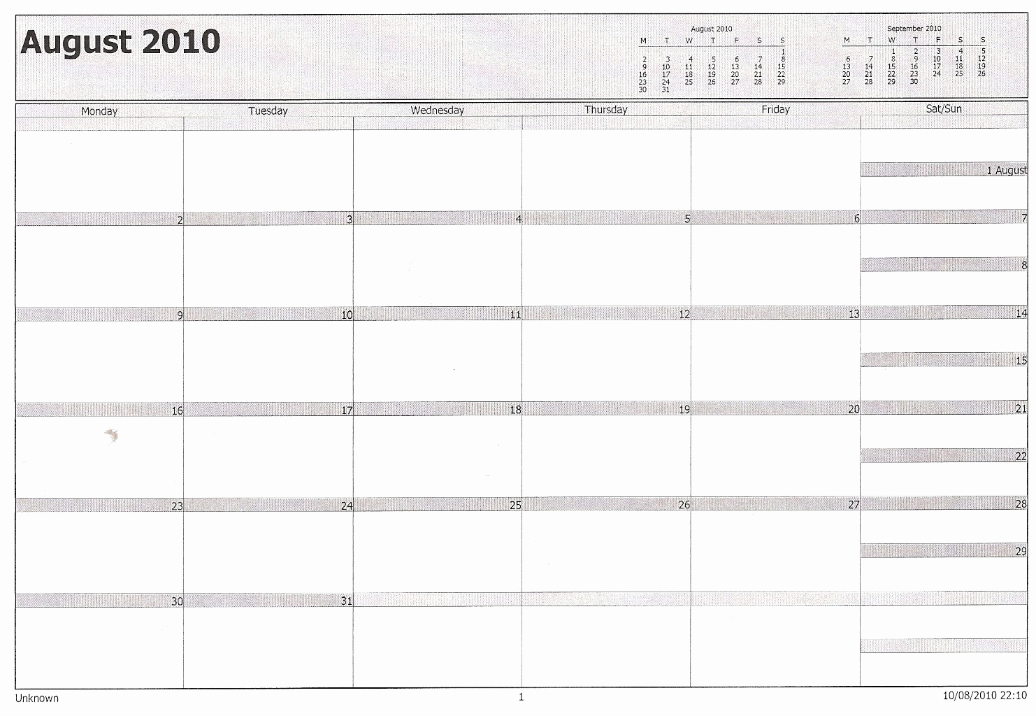 Printable Calendar In Outlook