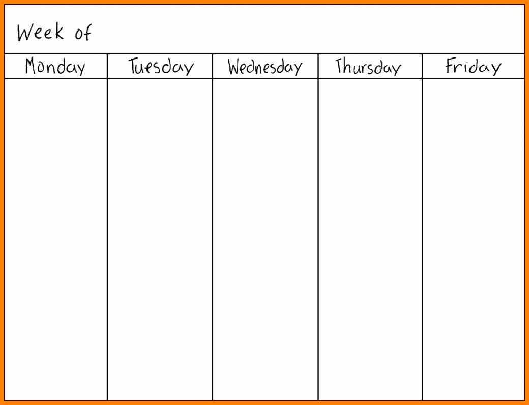 Printable Calendar Monday Through Sunday