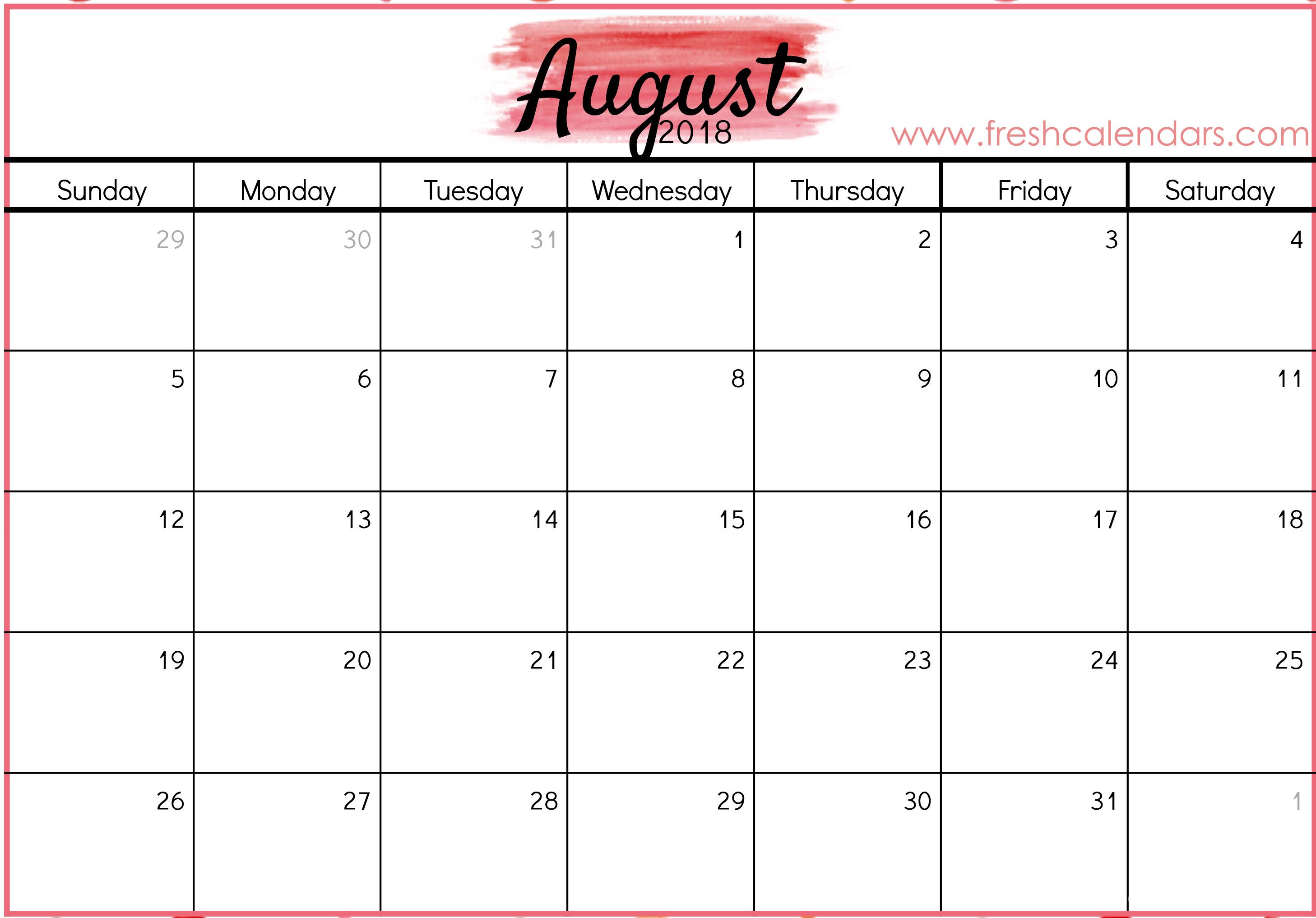 Printable Calendar Specific Dates