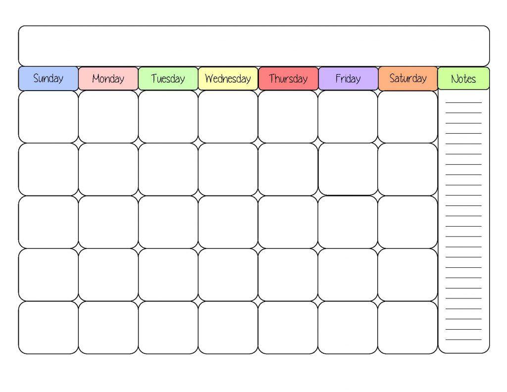 Printable Calendar Template Example Large Free Printable Calendar
