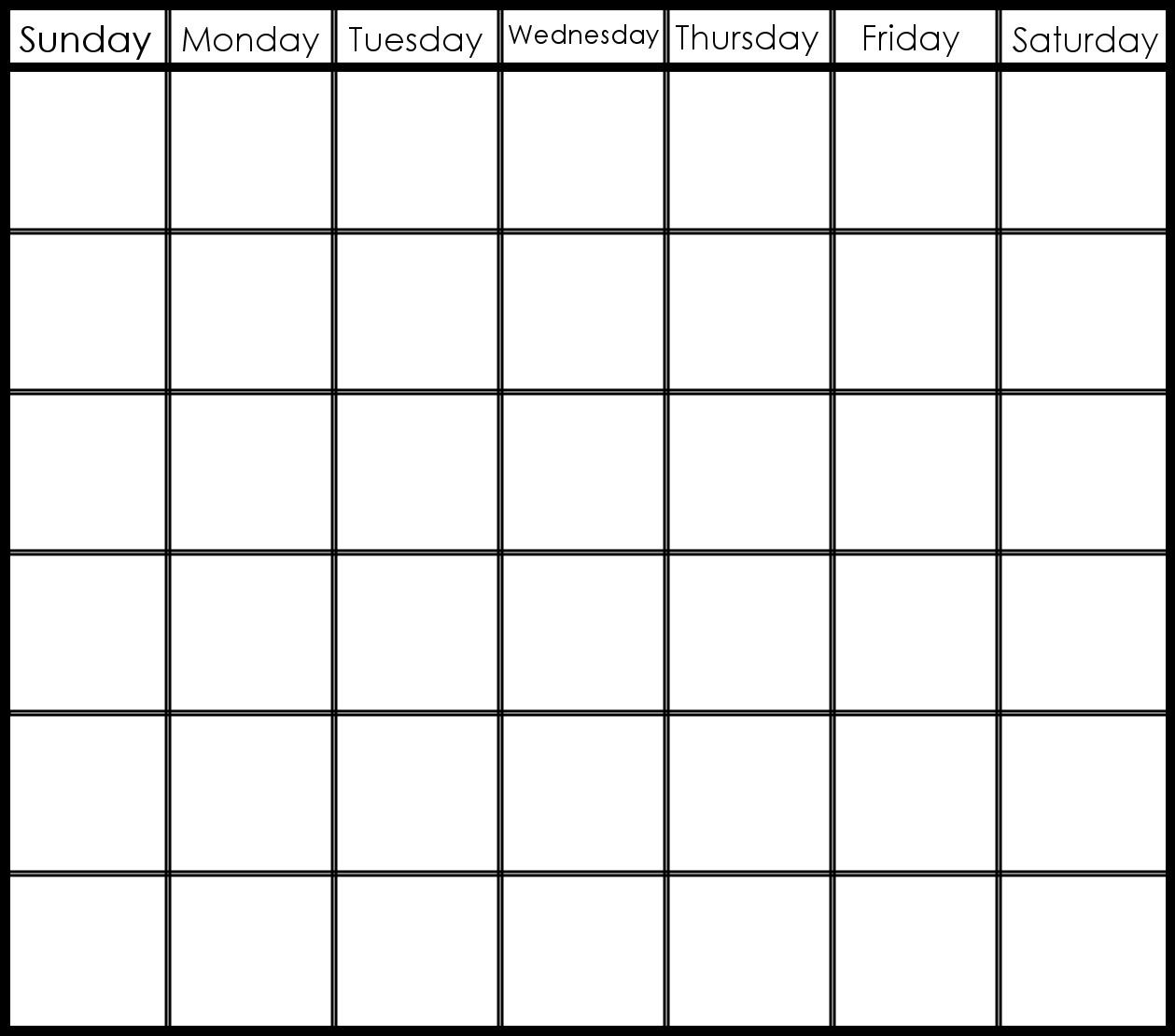 Printable Calendar Templates 2019-6 Week