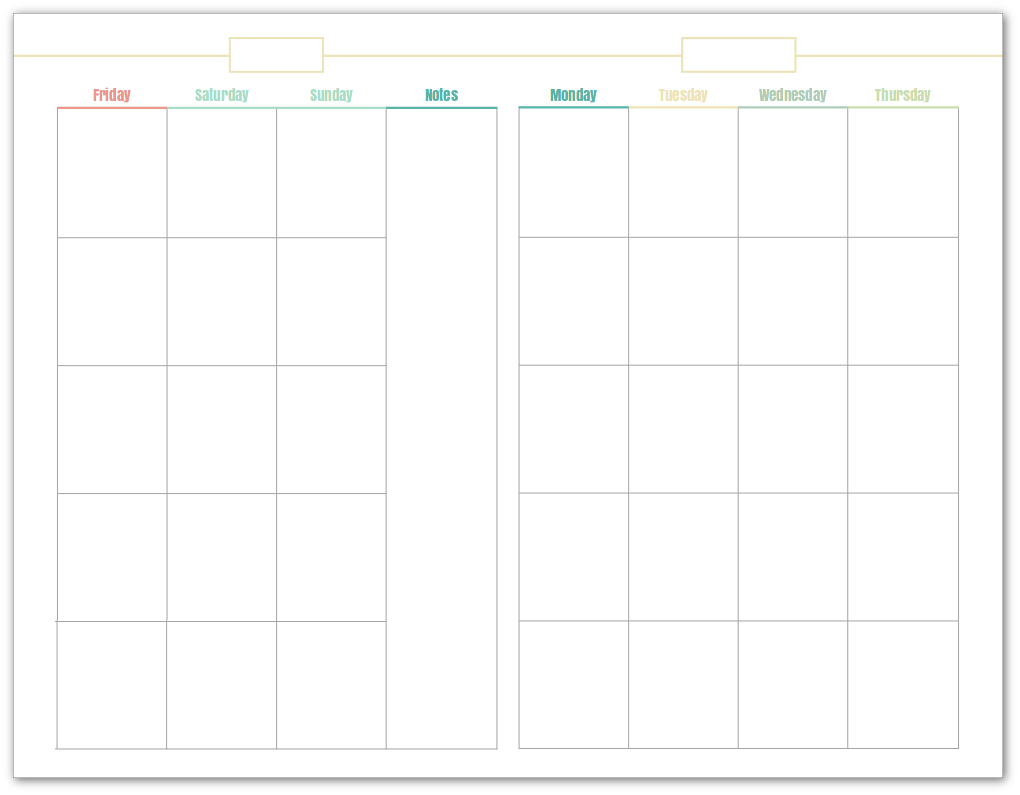 Printable Calendar Undated
