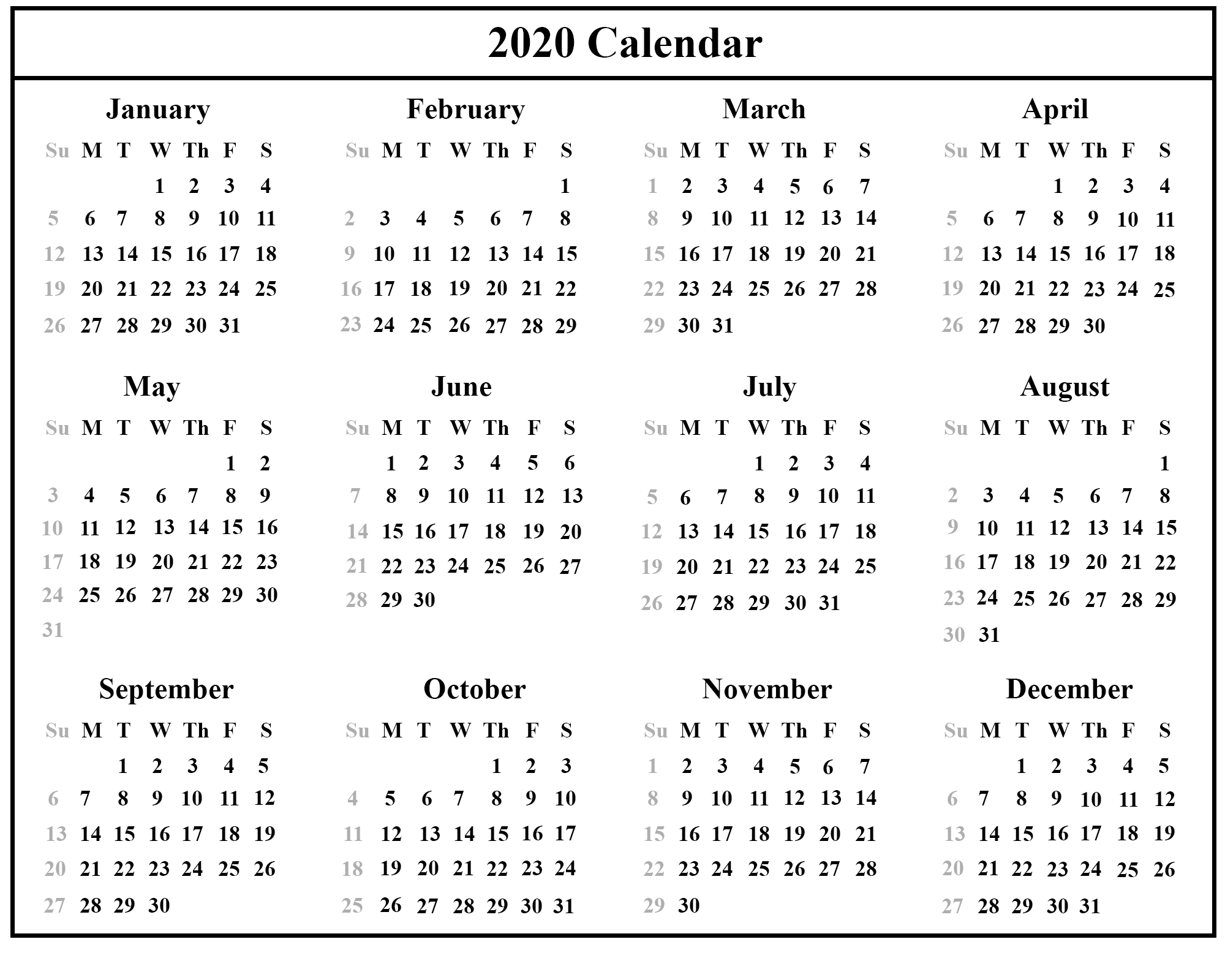 [%Printable Free Download Singapore Calendar 2020 [Pdf, Excel & Word|2020 Calendar Singapore|2020 Calendar Singapore%]