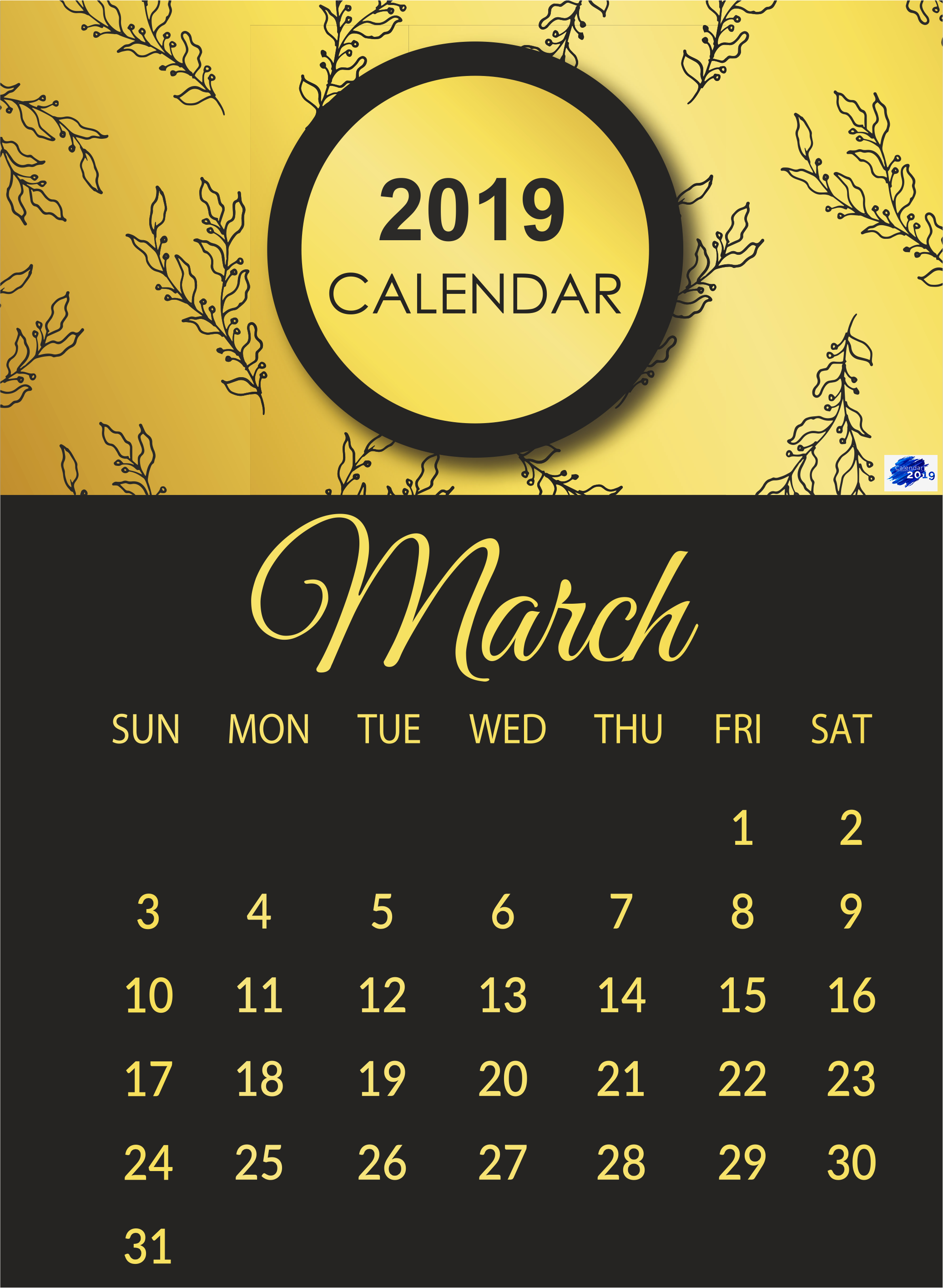 Printable March 2019 Calendar In 2019