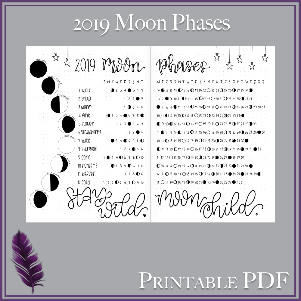 image relating to Moon Phases Printable titled Printable Moon Stage Calendar Calendar Printable Absolutely free