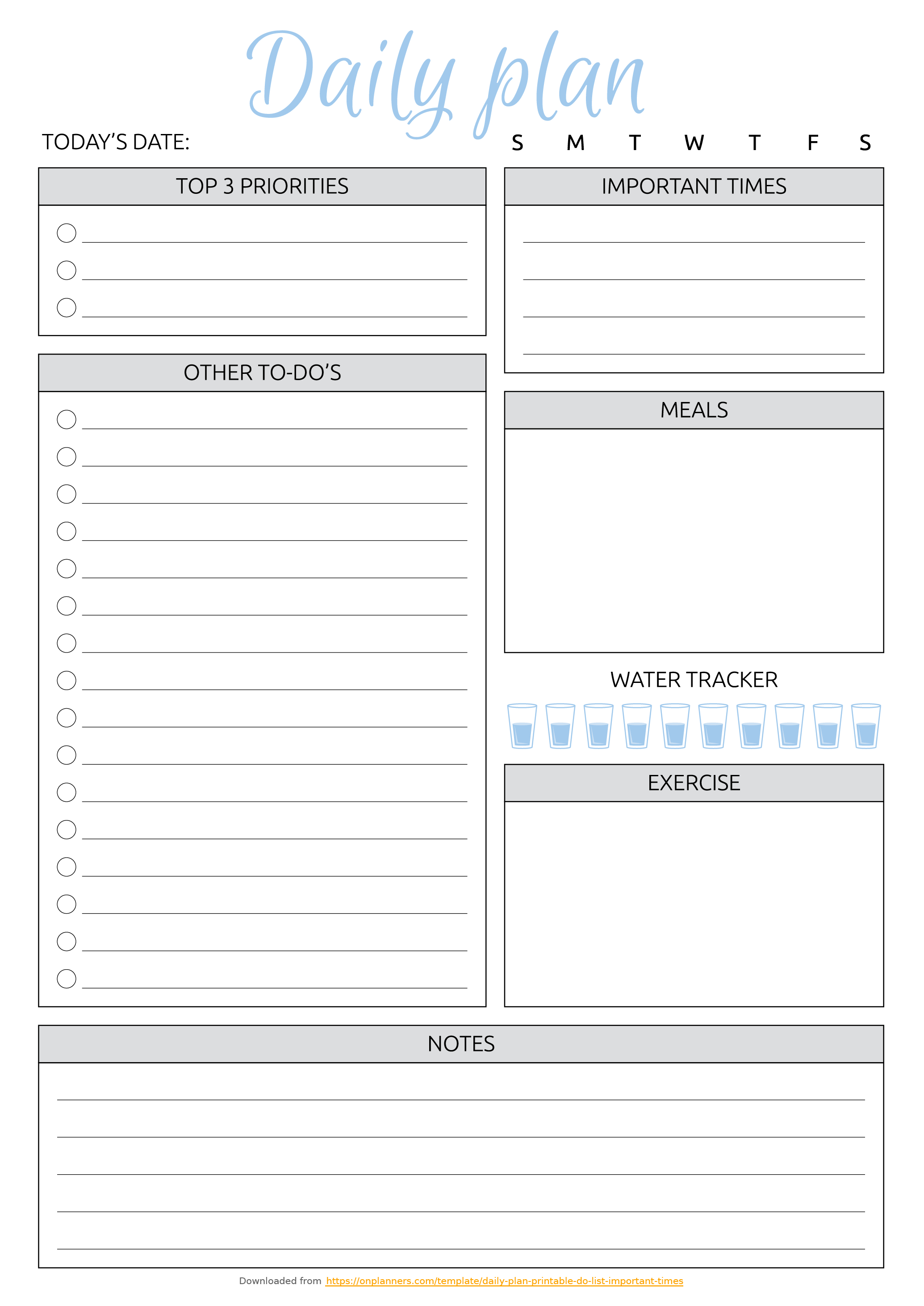 Printable Weekly To Do List Template