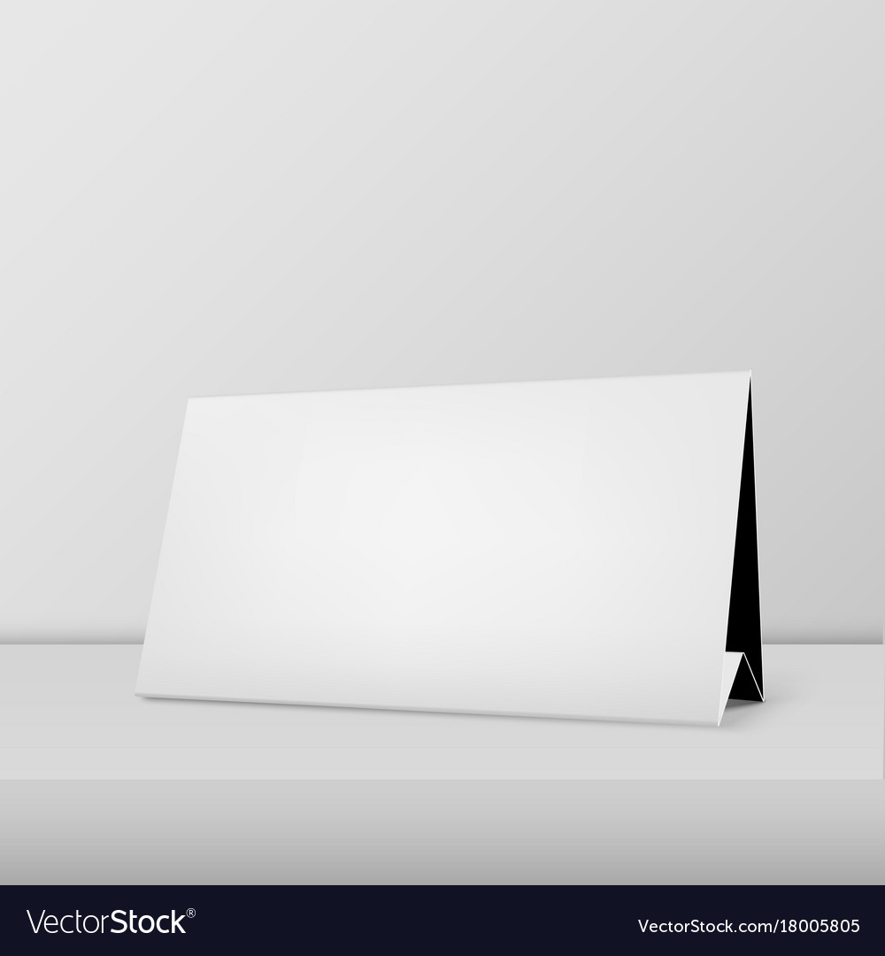 Realistic Horizontal Blank Calendar Closeup Vector Image