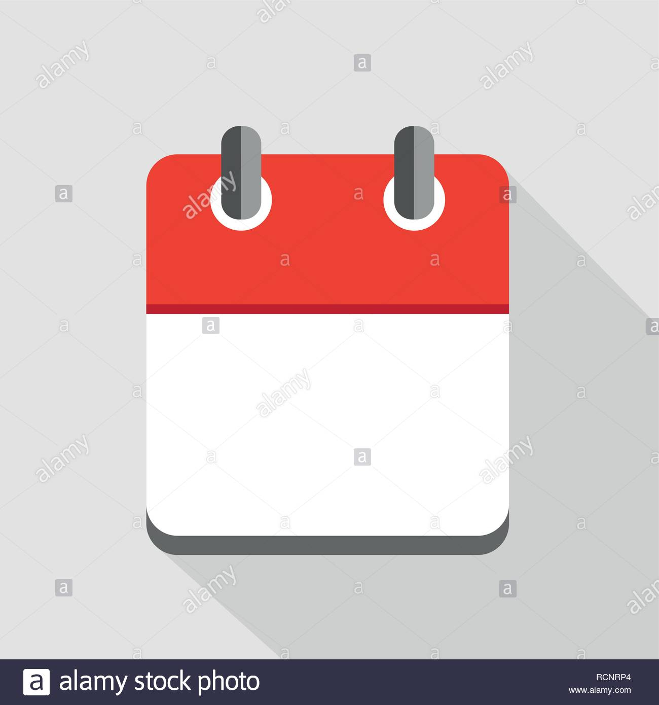 Red Blank Calendar Icon Symbol Vector Illustration Eps10 Stock