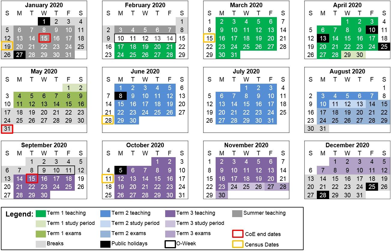 Remarkable 2020 School Calendar Nsw • Printable Blank Calendar Template