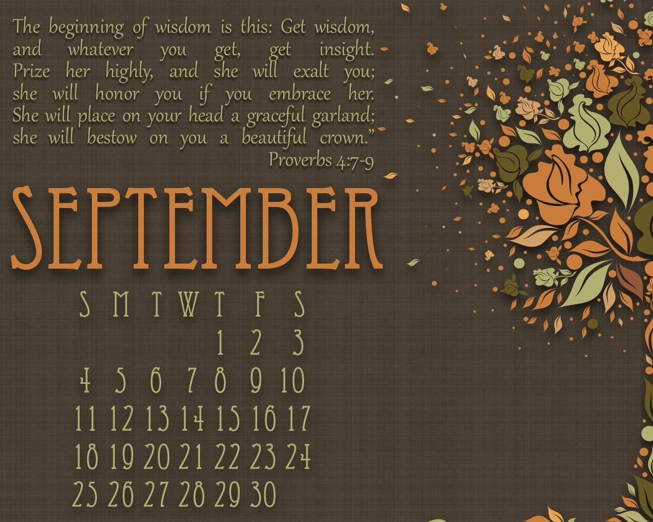 September Quotes For Calendars
