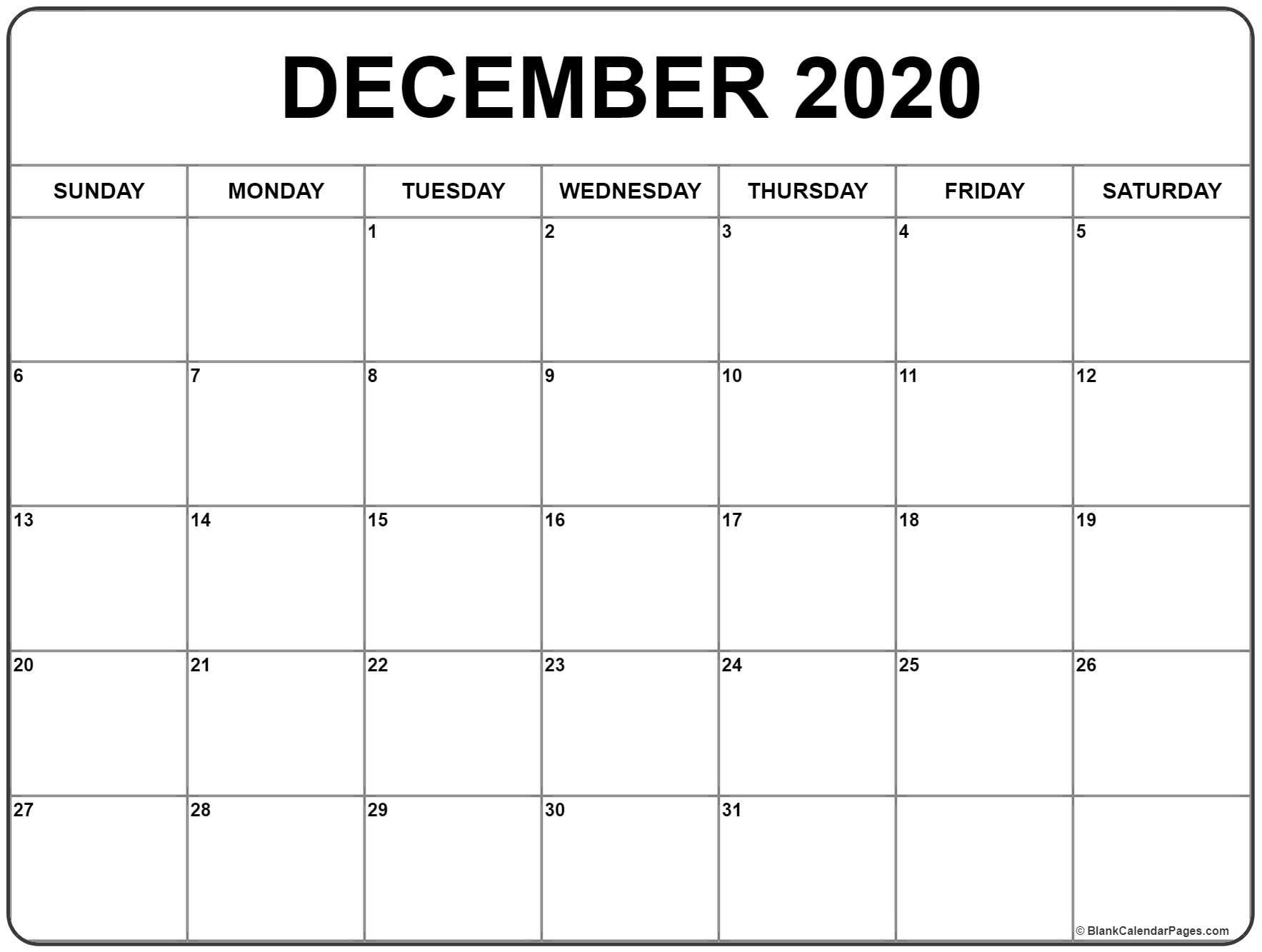 Show Me A 2020 Calendar