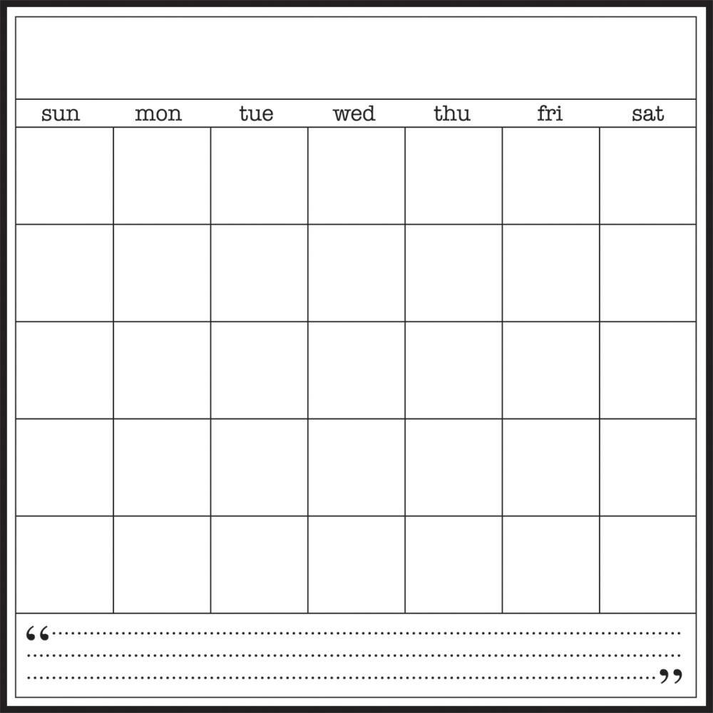 Srm Blank Calendar-8X8