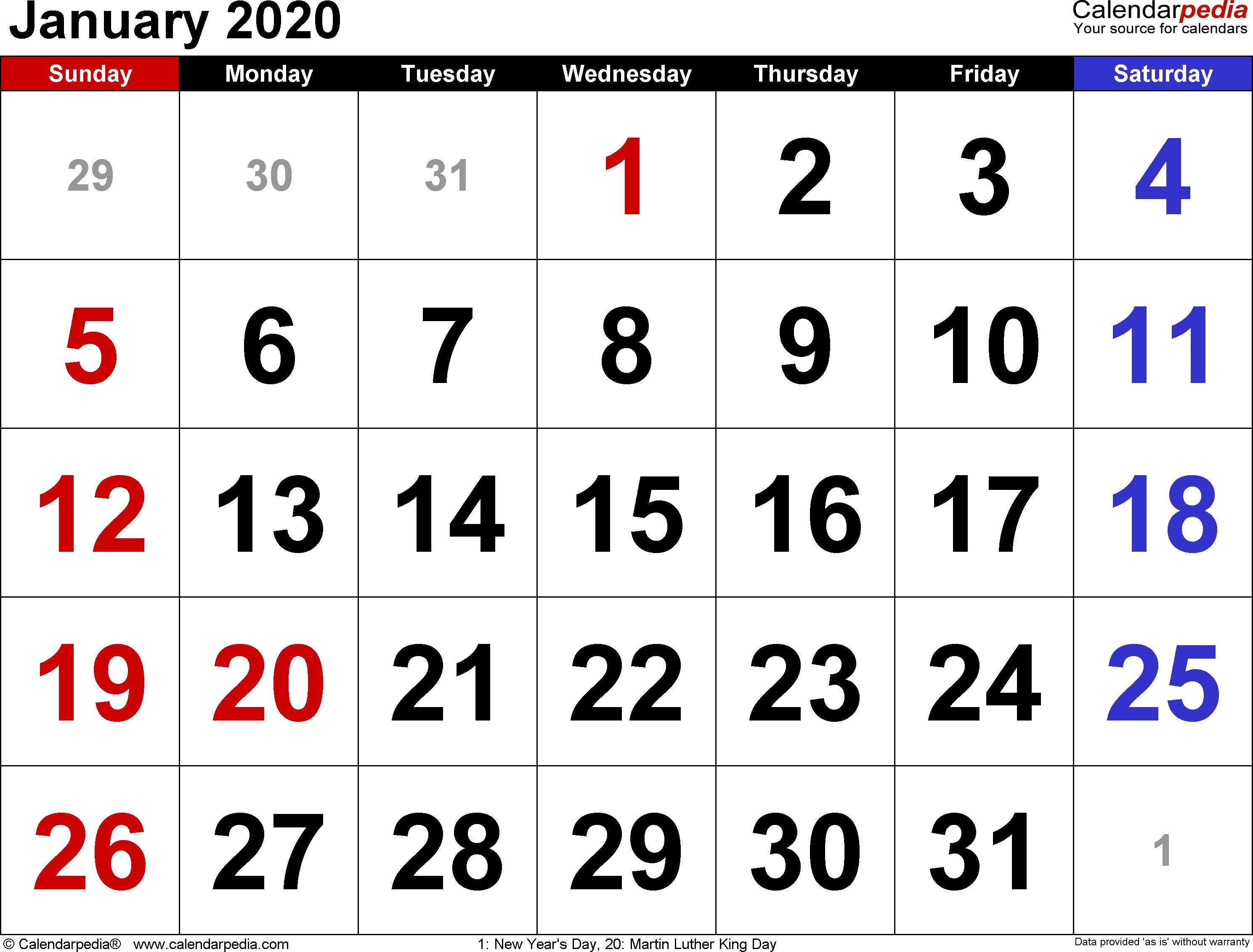 Tamil Calendar 2020 January