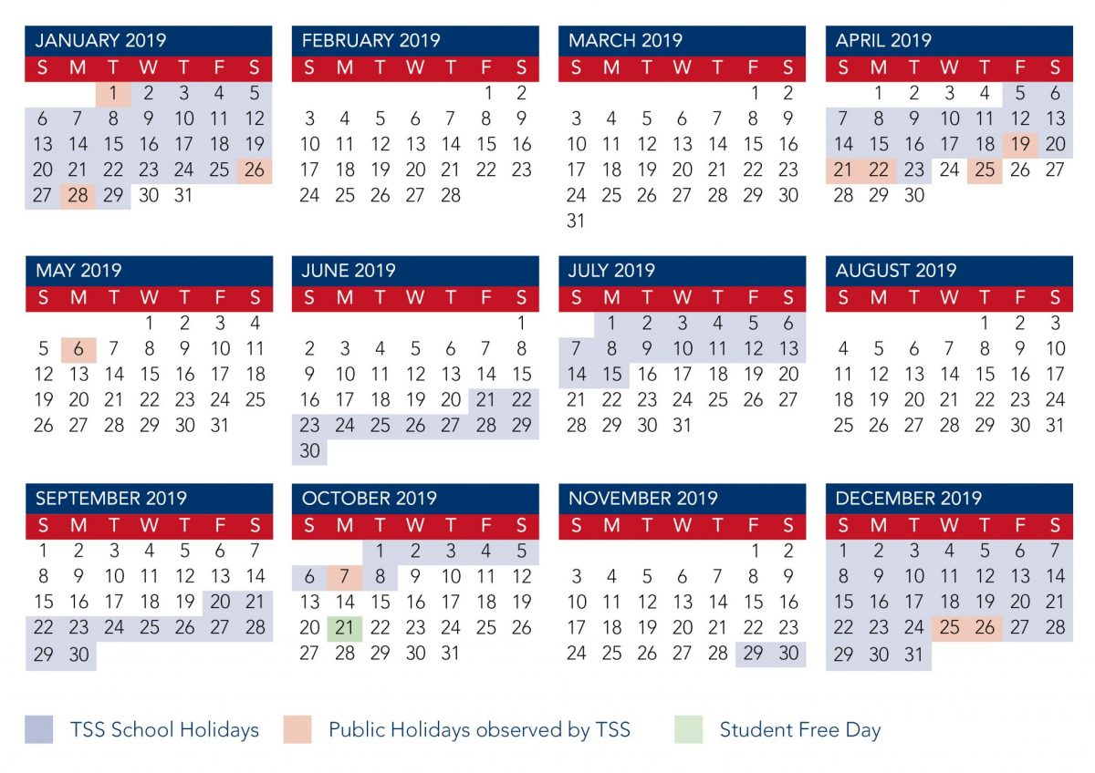 Term Calendar Dates