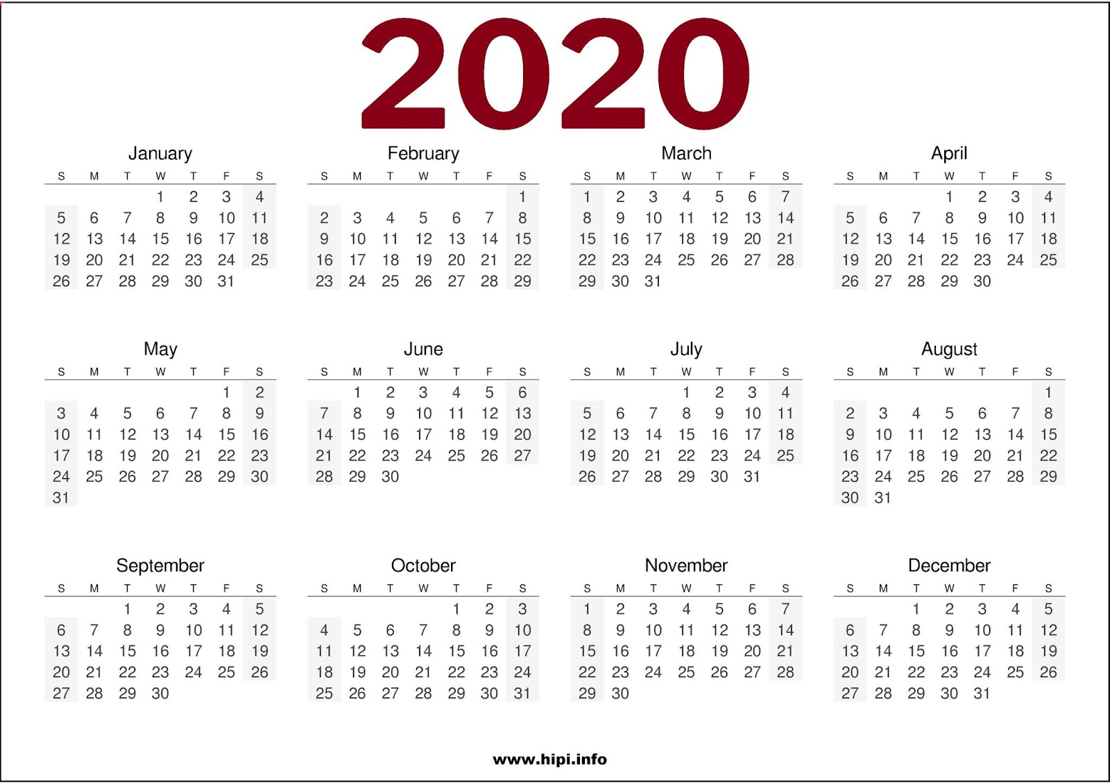 Twitter Headers / Facebook Covers / Wallpapers / Calendars: 2020