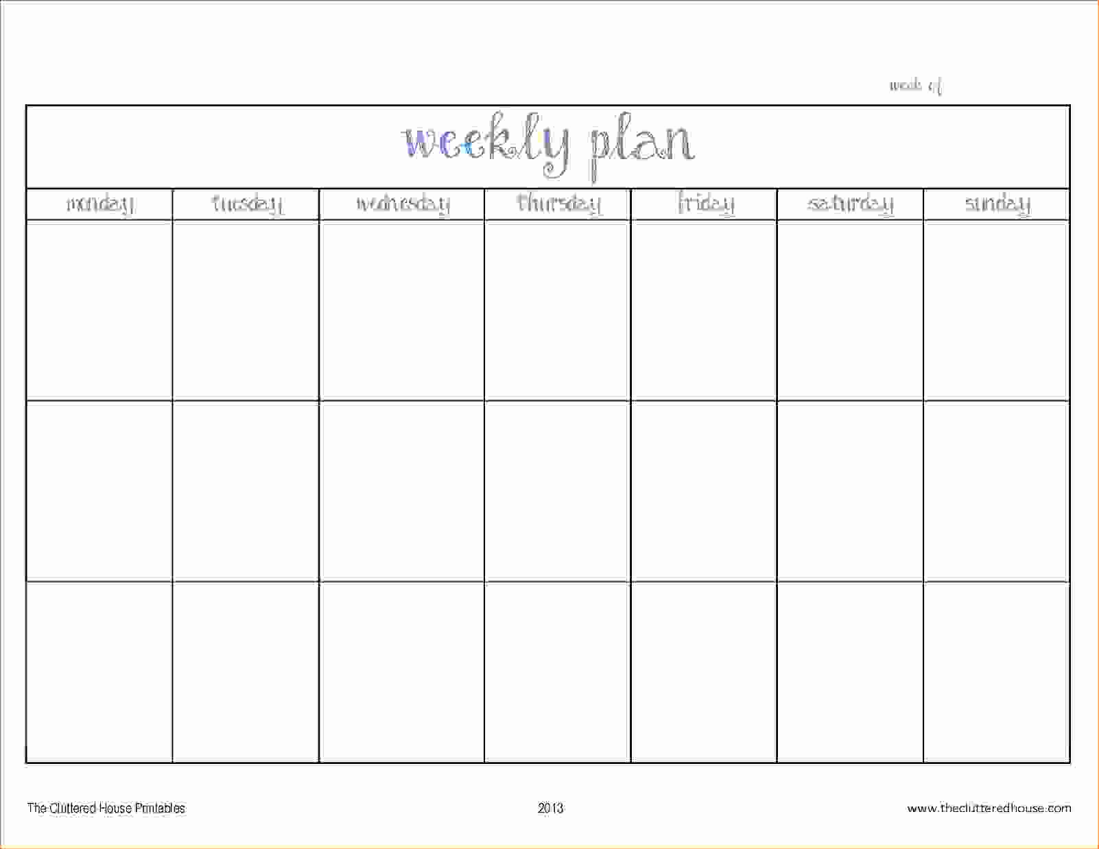 Two Week Calendar Template Schedule Printable Pdf Free