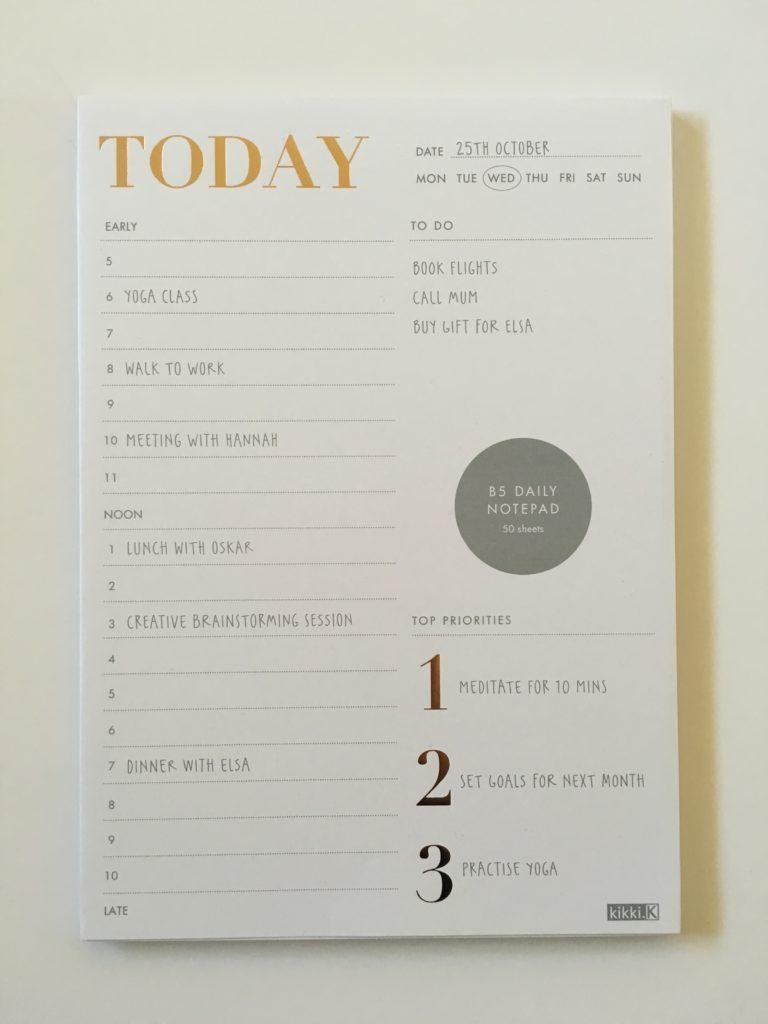 Using A Kikki K Daily Planner Notepad - Is Kikki K Stationery Worth