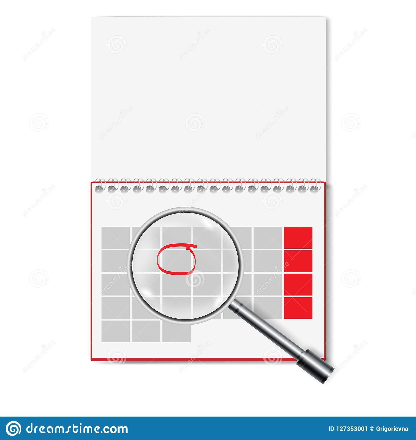 Vector Illustration Of Blank Calendar Stock Vector - Illustration Of