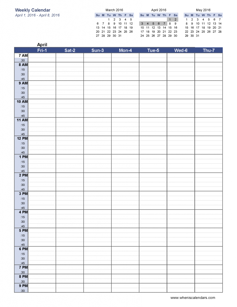 Week Calendar Templates - Agadi.ifreezer.co