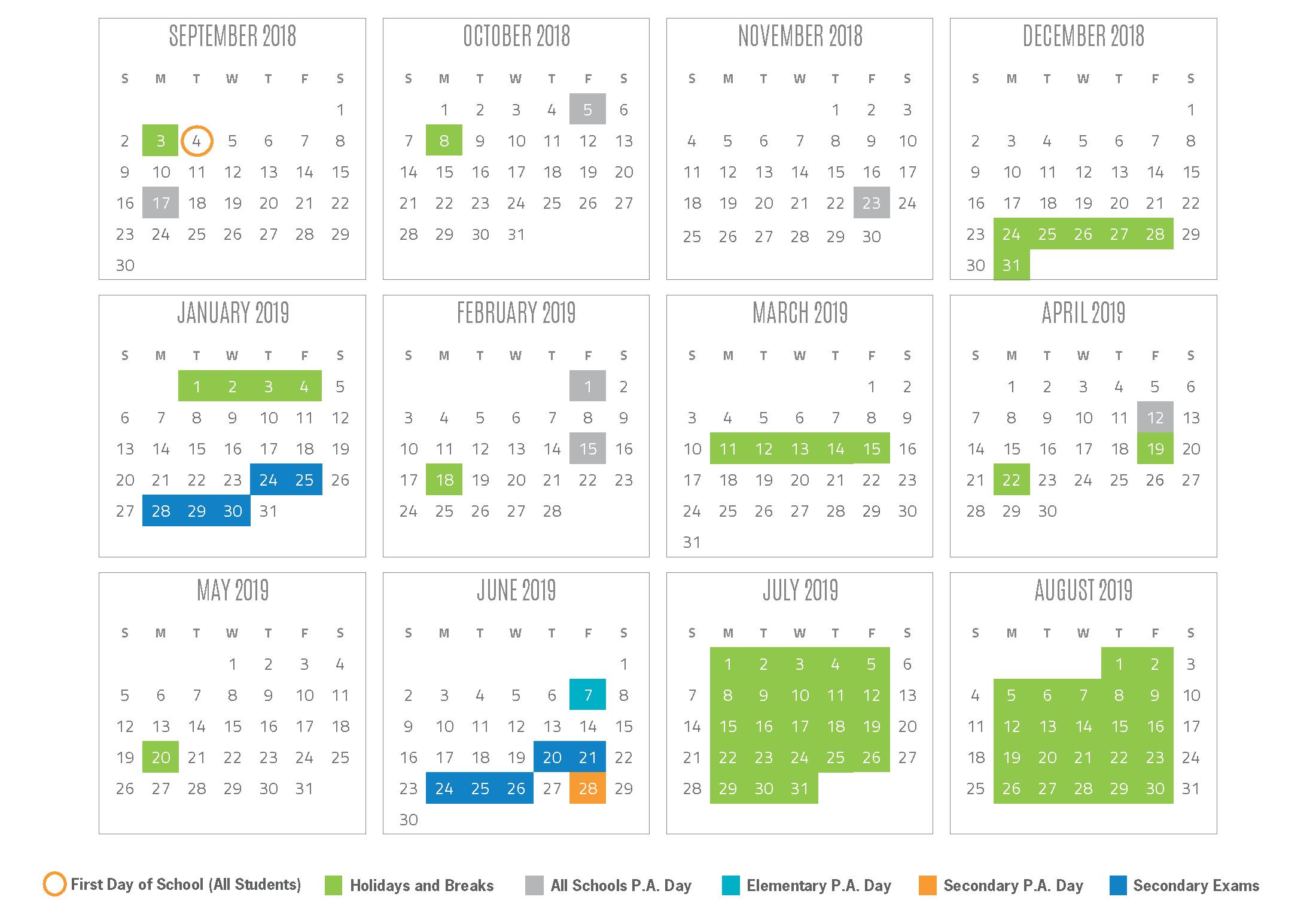 Yrdsb 2020 Calendar