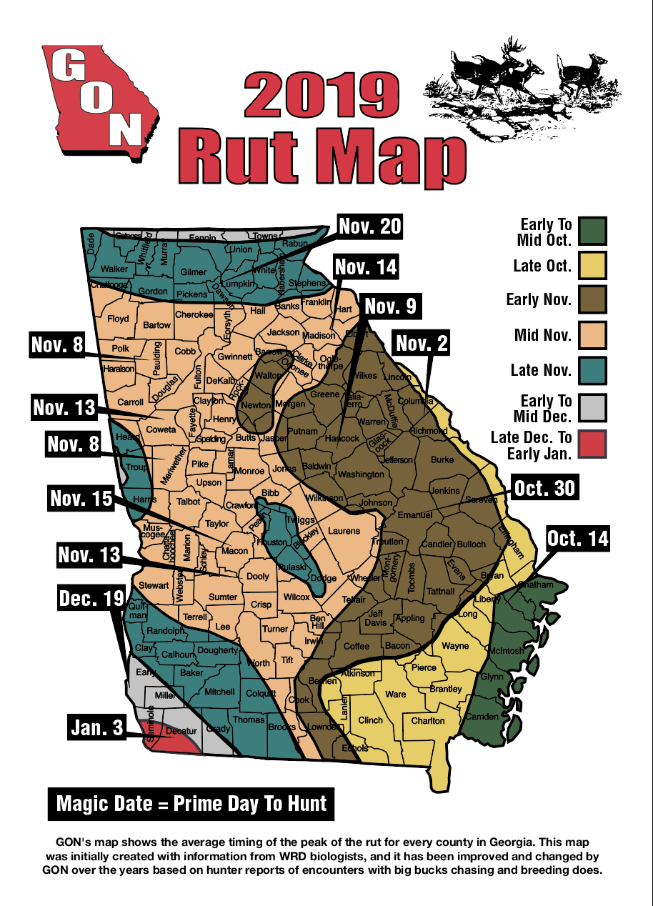 2019 Georgia Rut Map