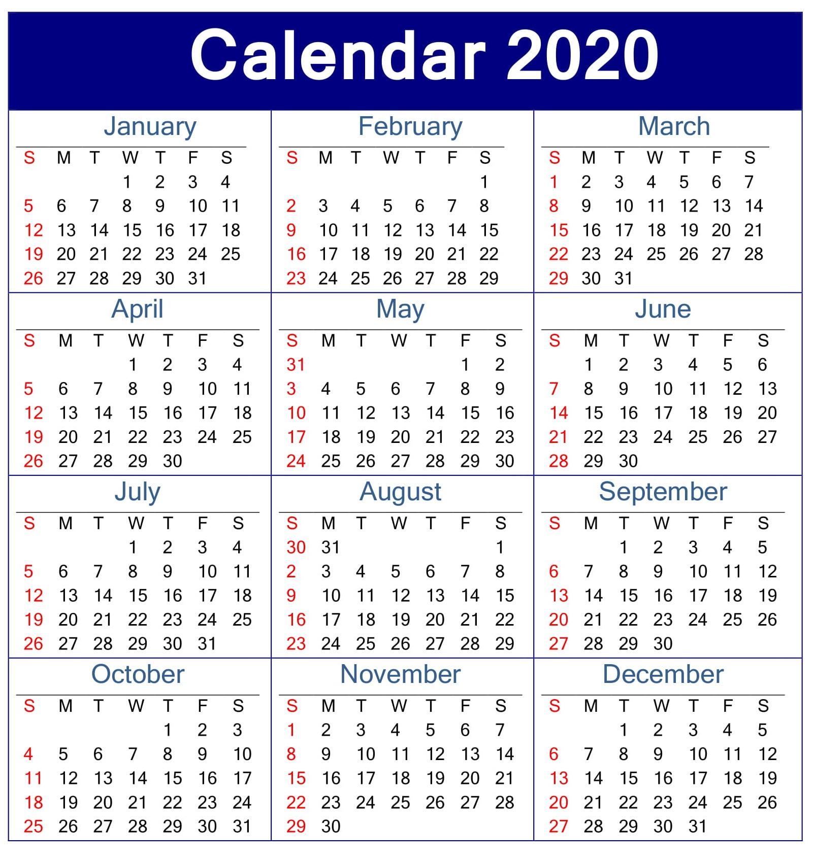 2020 Employee Attendance Tracker Free Printable