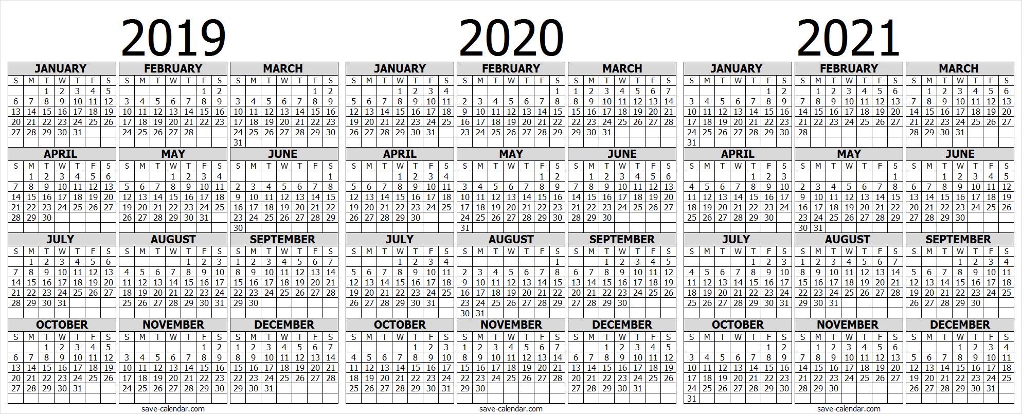 2021 Calendar, Print