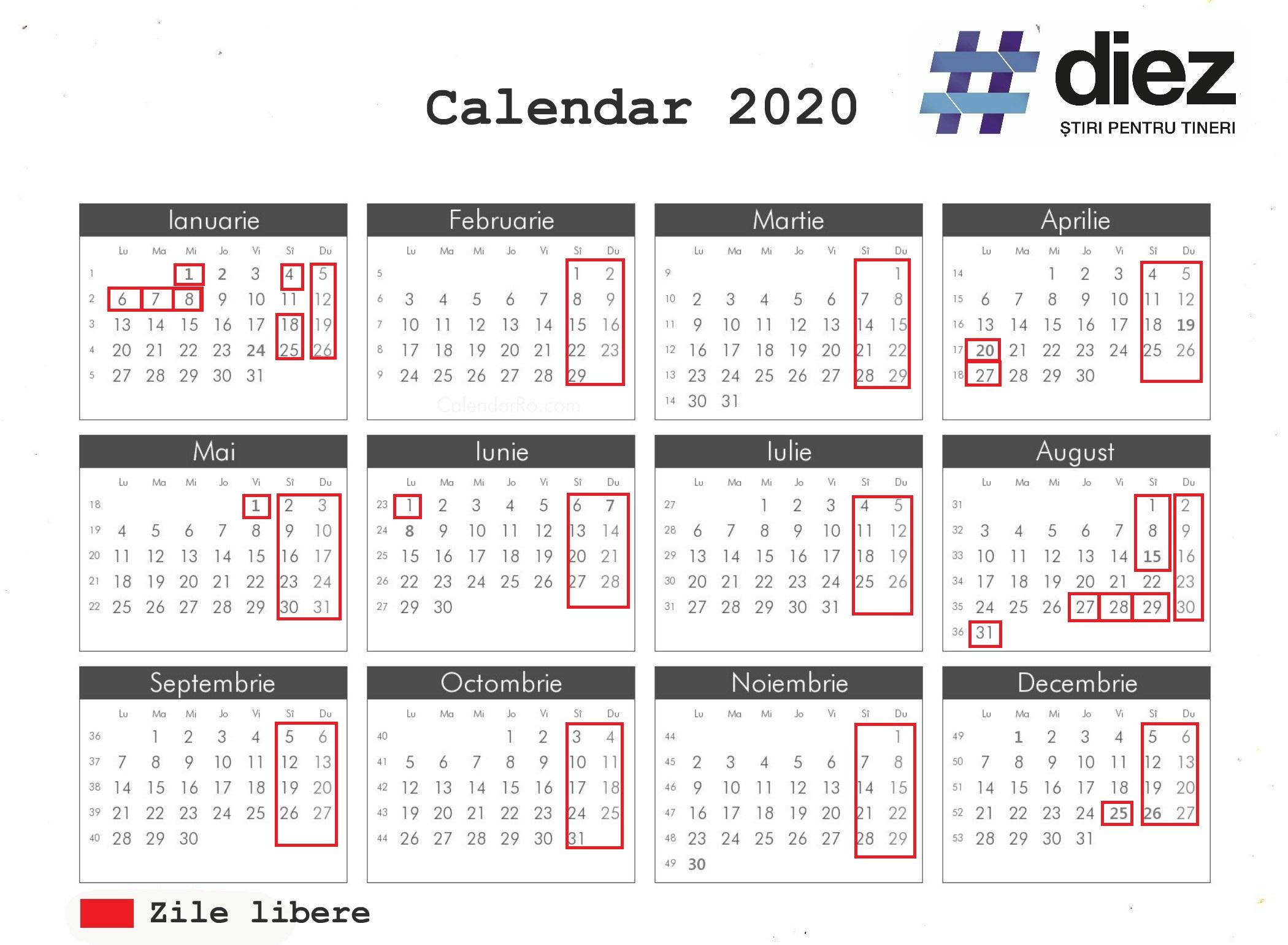 Aprobat De Guvern! Care Vor Fi Zilele De Odihnă În Anul 2020