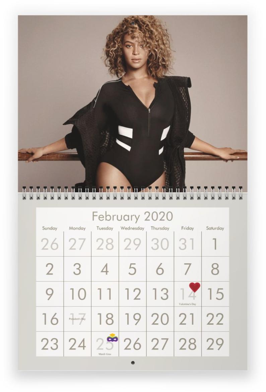 Beyonce 2020 Wall Calendar *pre-Order*