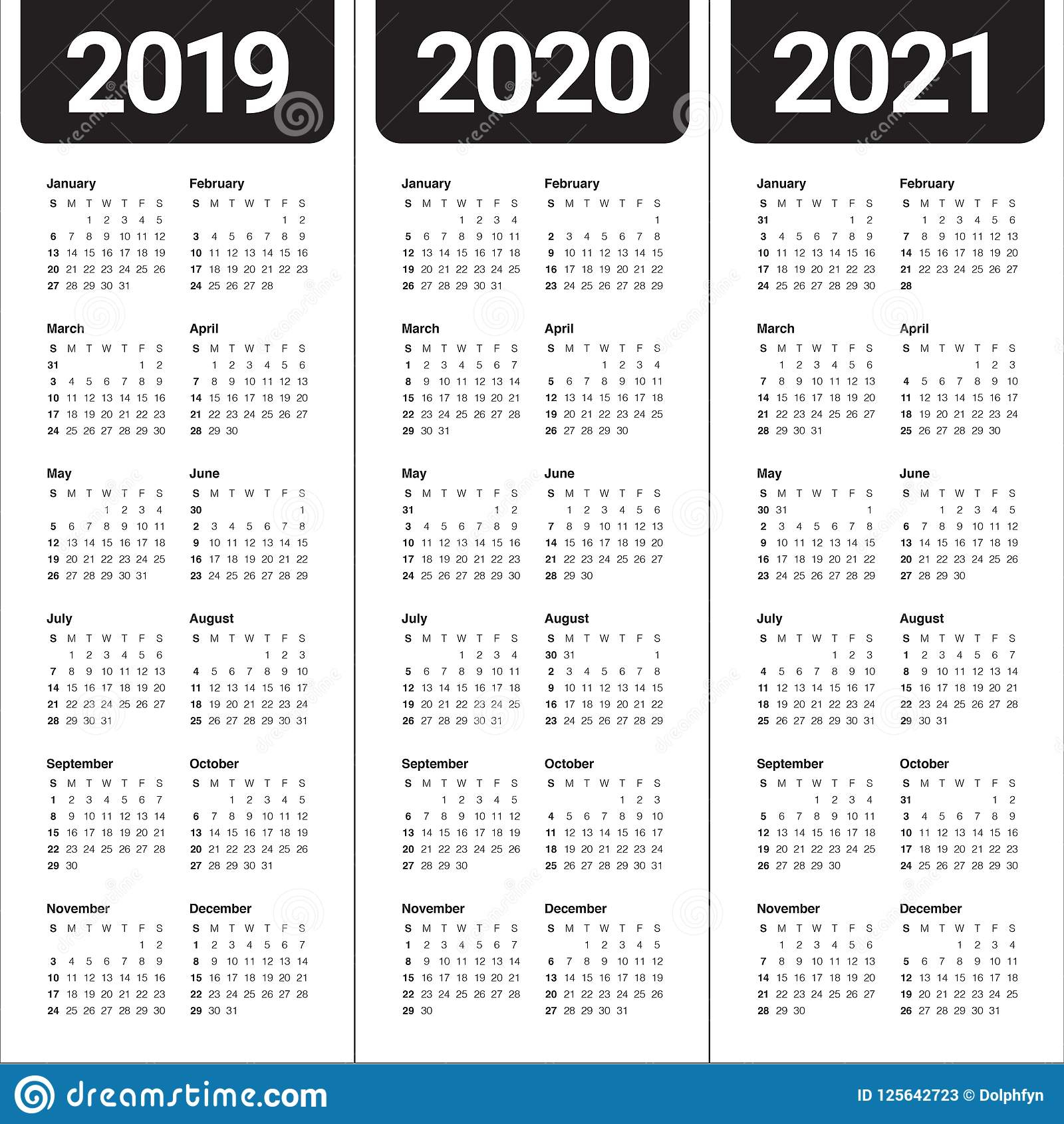 Calendar 2020 - 2021 Template