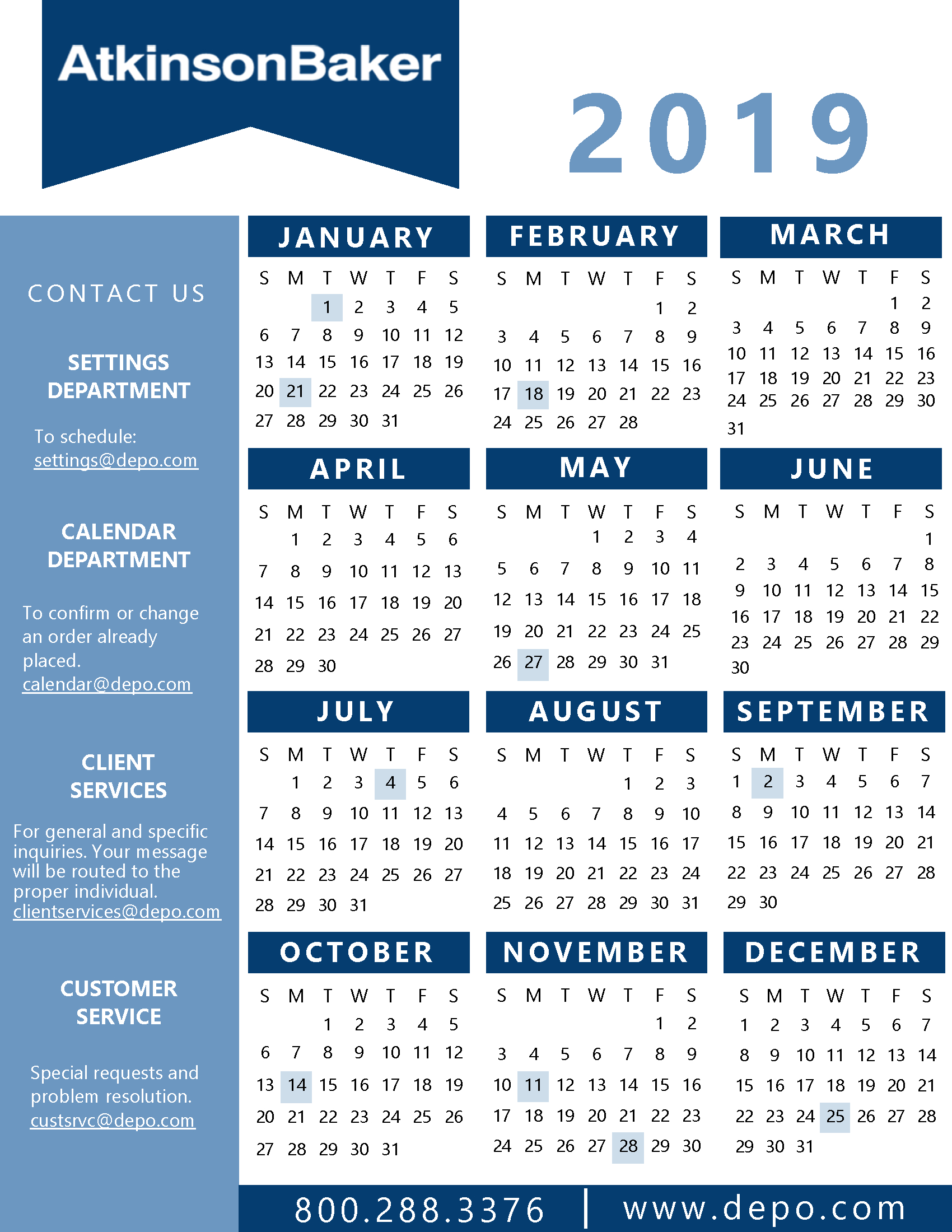 Calendar And State Holidays