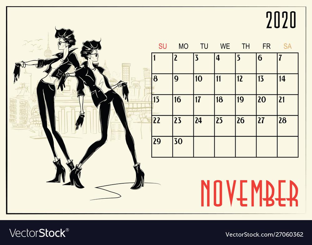 Calendar Girl 2020