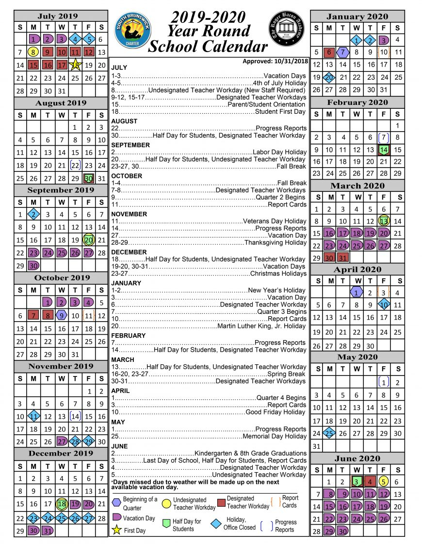 Calendar « South Brunswick Charter School