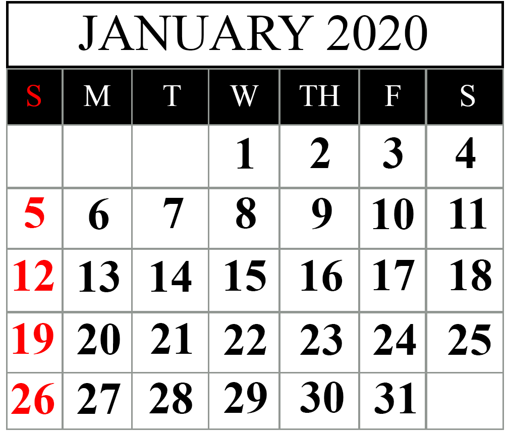 [%Free January 2020 Printable Calendar Templates [Pdf, Excel|Sri Lanka Calender 2020|Sri Lanka Calender 2020%]