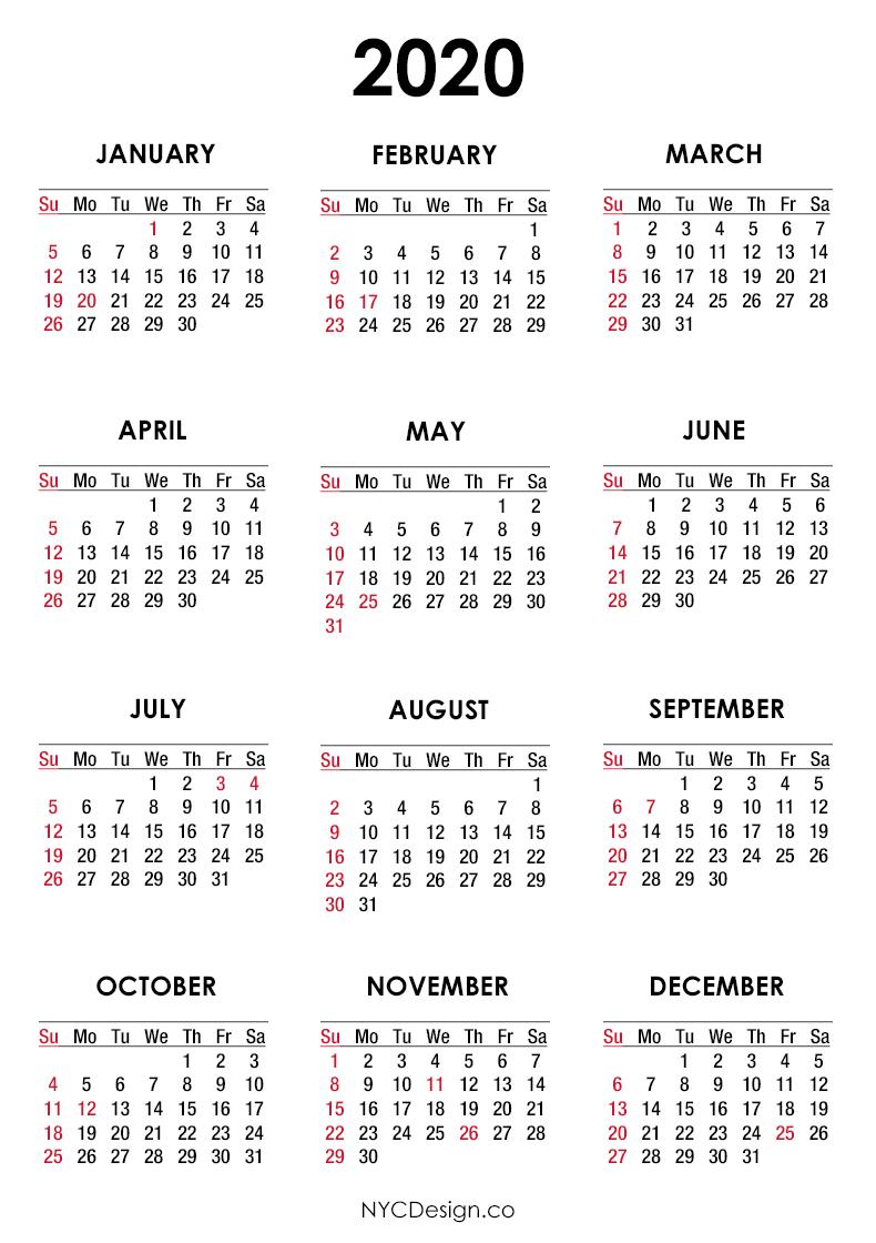 Get Here 2020 Calendar With Holidays Usa - Dragon Ball