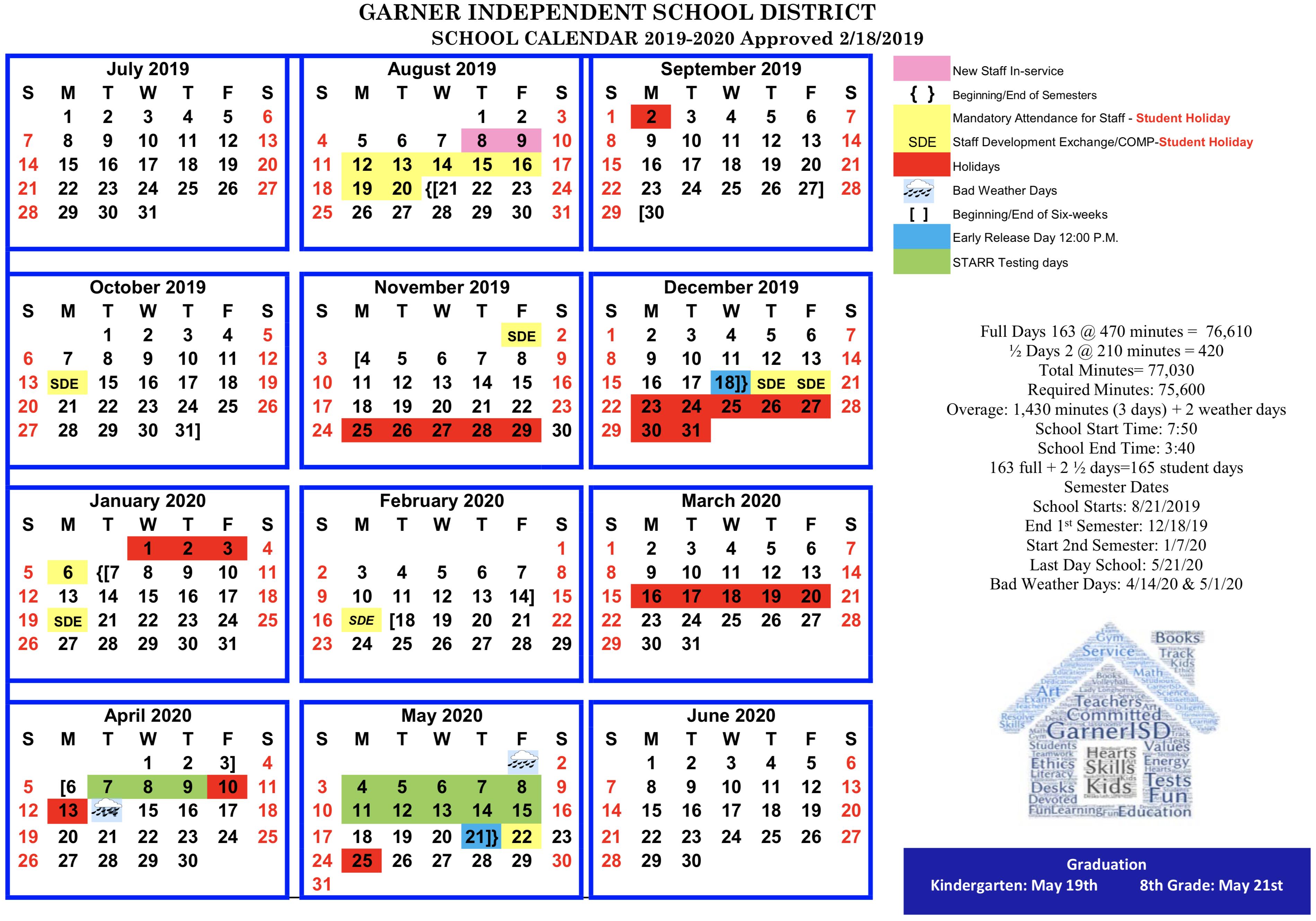 Gisd 2020 Calendar