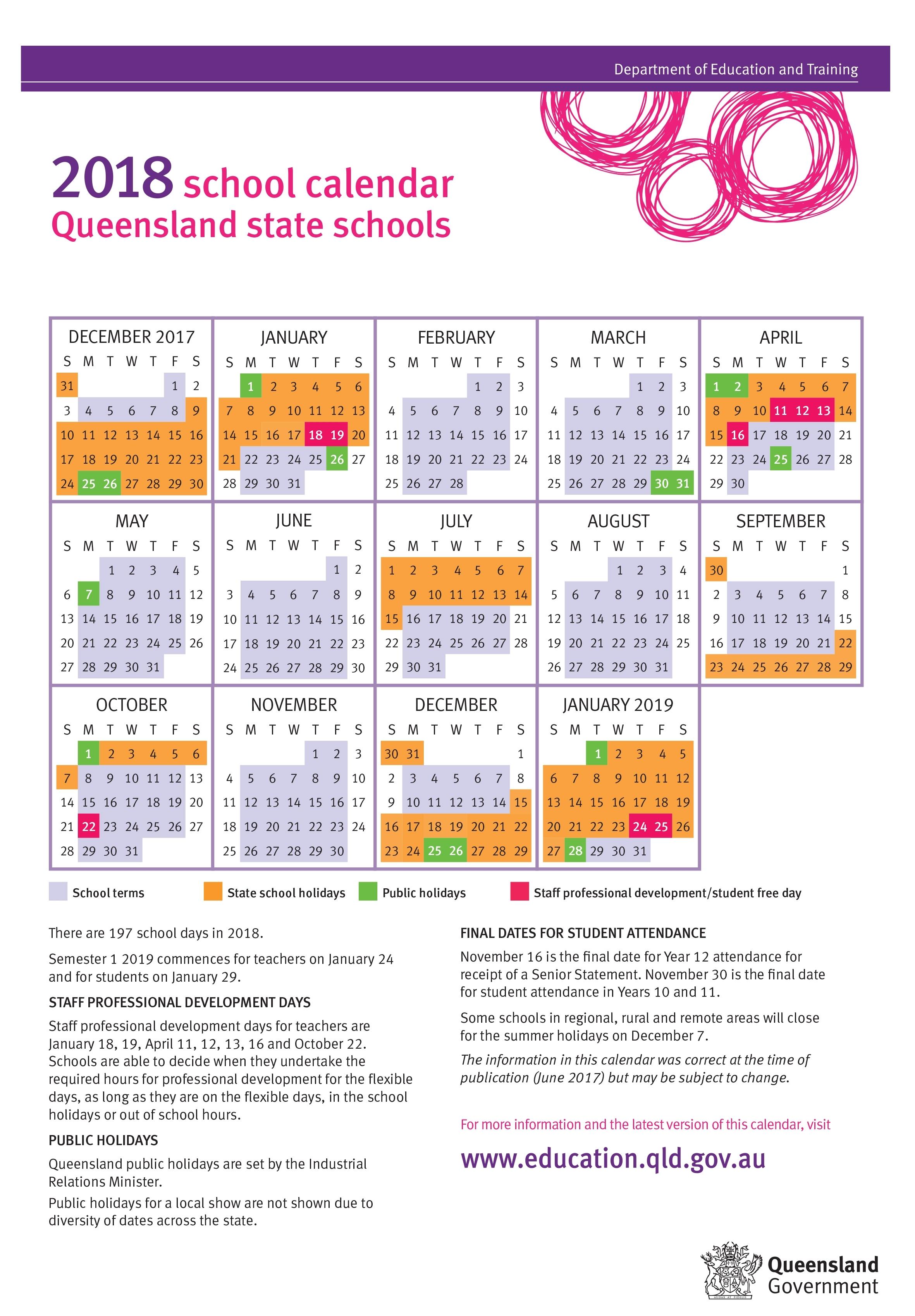 Google 2020 School Calendar Queensland State Shools