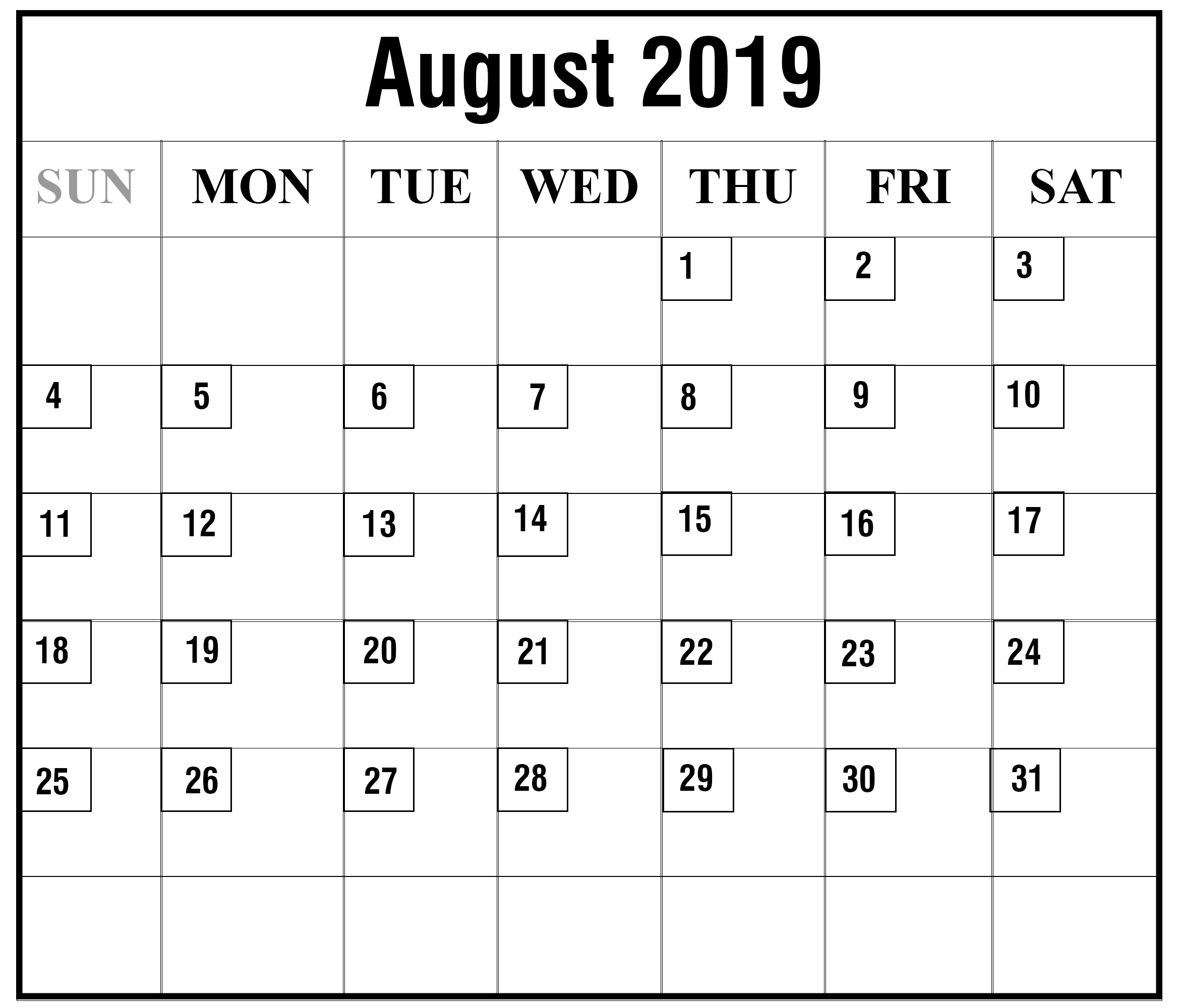 How To Schedule Your Month With August 2019 Printable