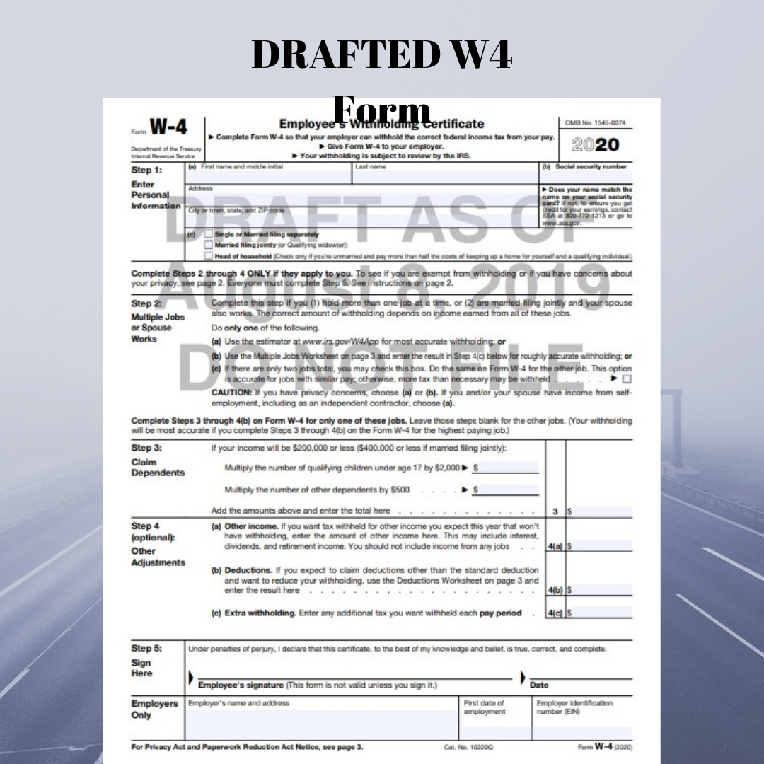 Irs Revises Tax Year 2020 Withholding Form W-4 Yet Again