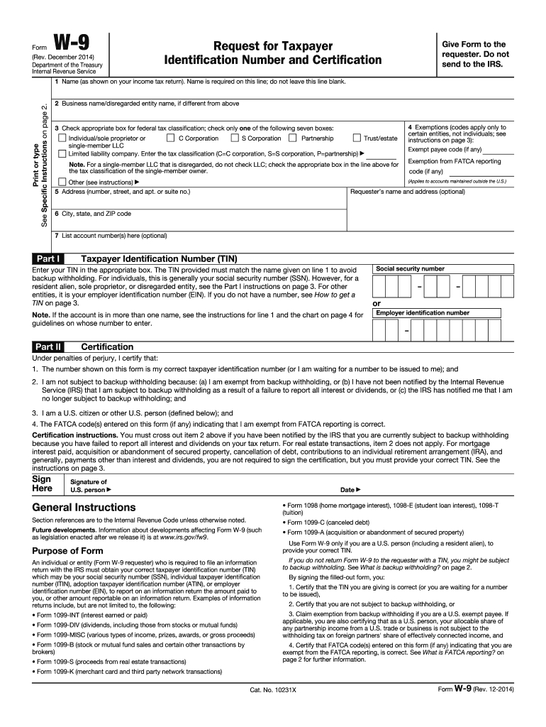 Irs W 9 Form 2020 Pdf