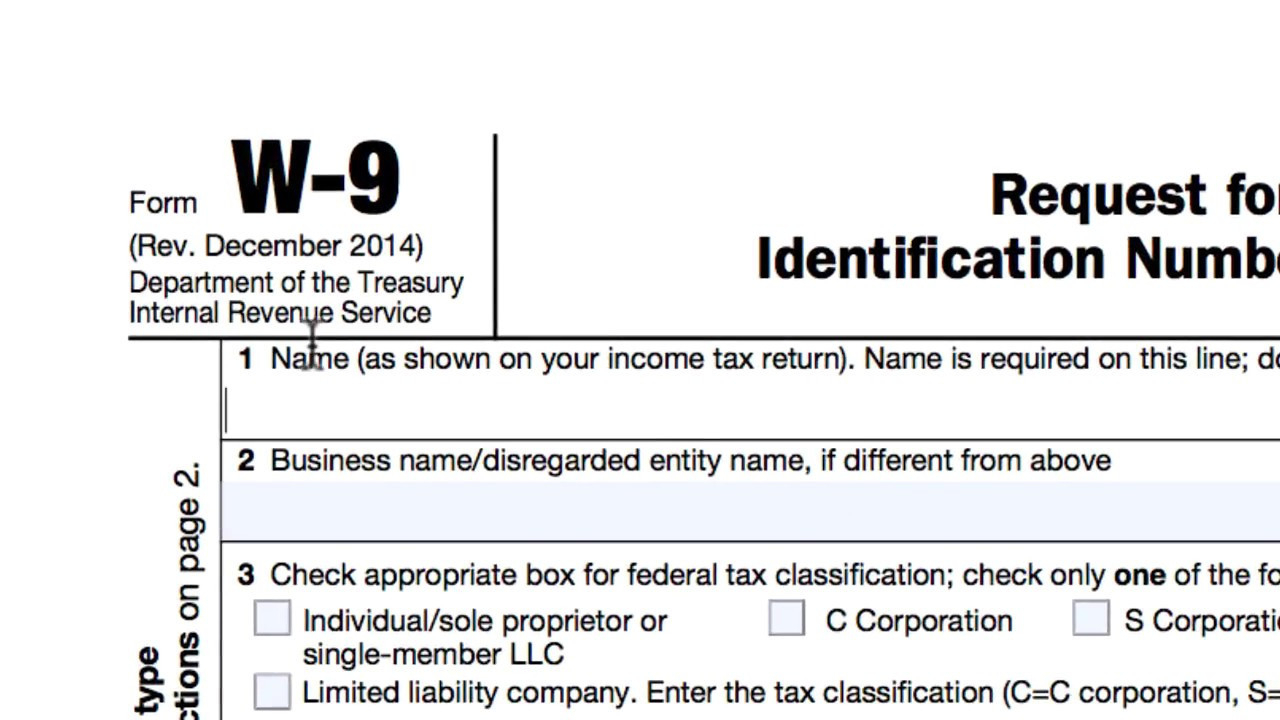 Irs W-9 Form 2020 Printable