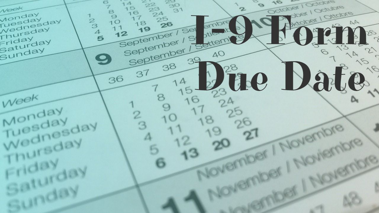 October 2020 I-9 Form