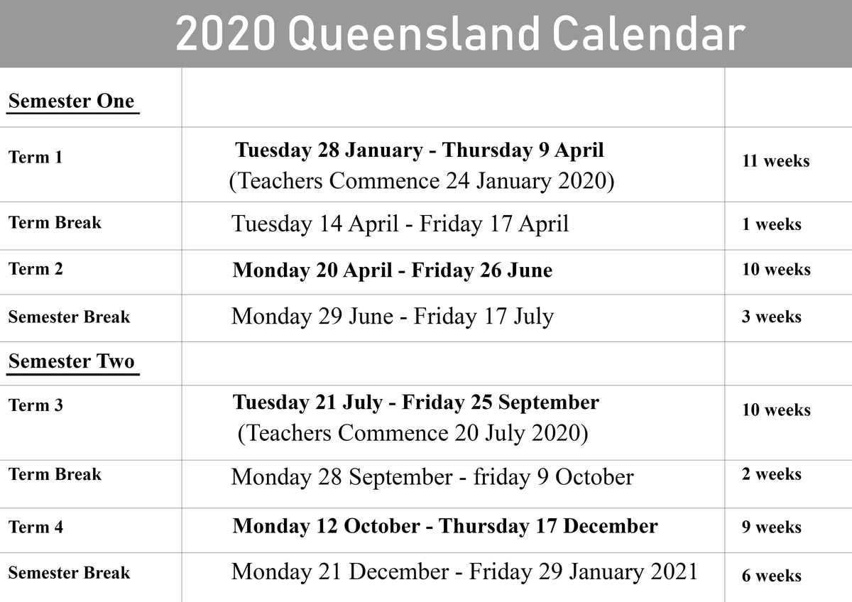 Qld School Holidays