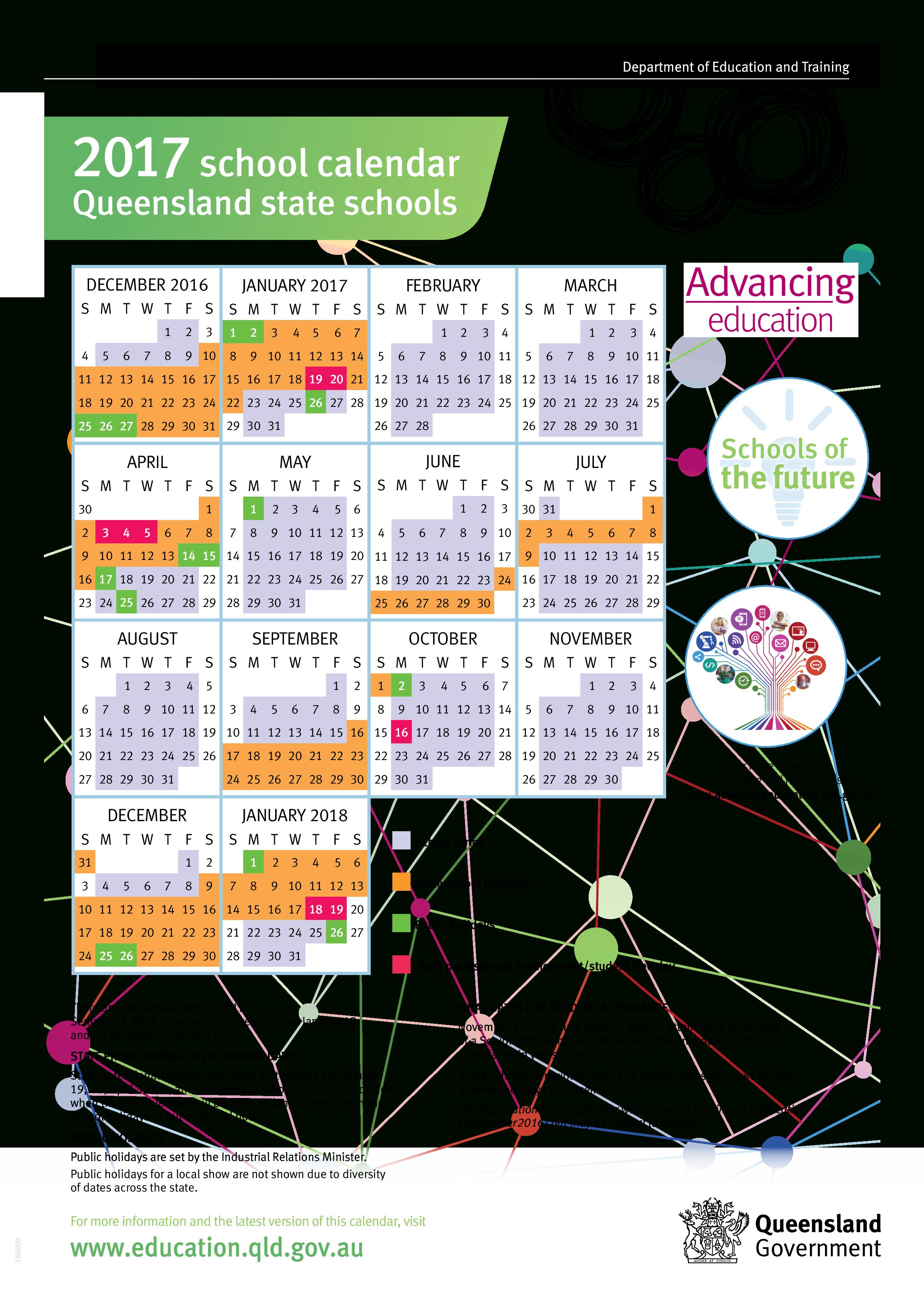 School Calendar Queensland State Schools 2020