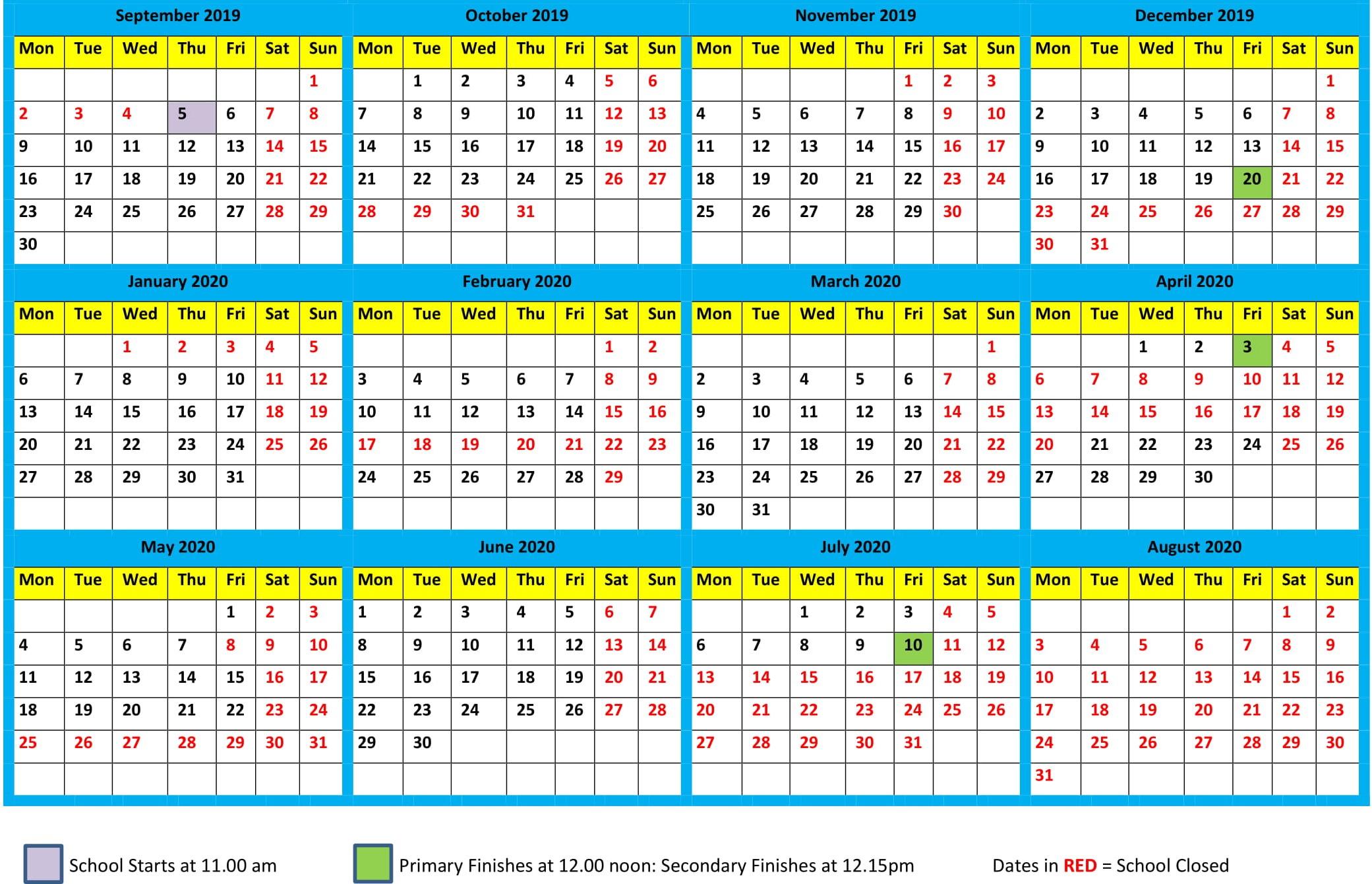 Southport 2020 Calendar