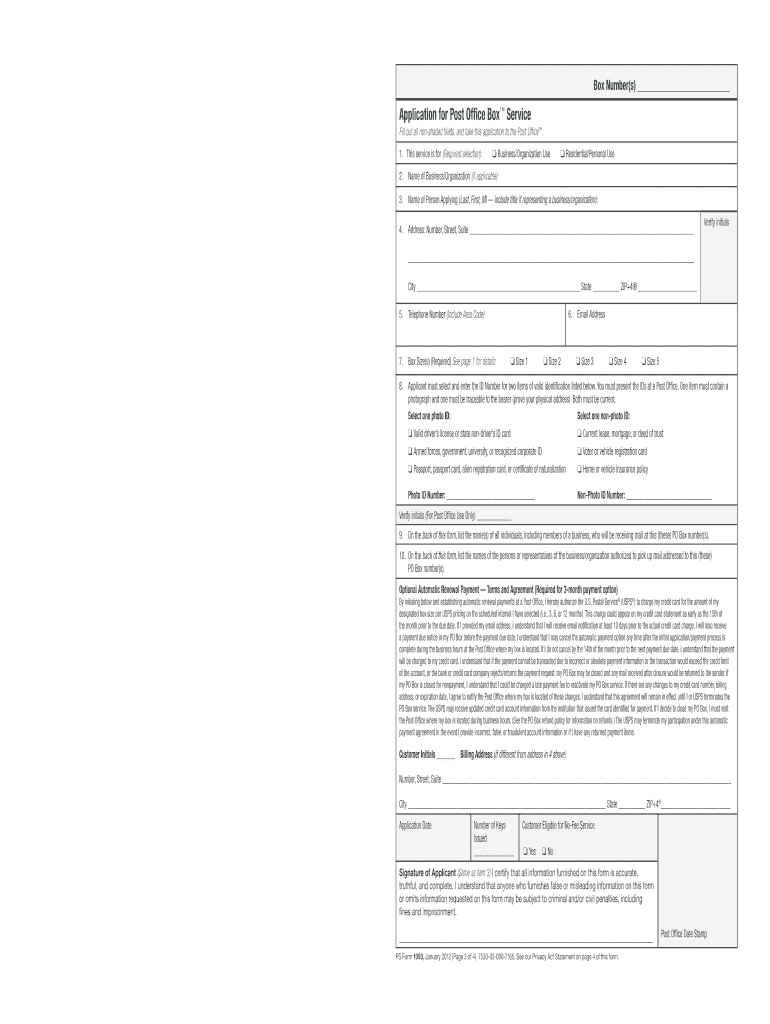 2012-2021 Form Usps Ps 1093 Fill Online, Printable, Fillable