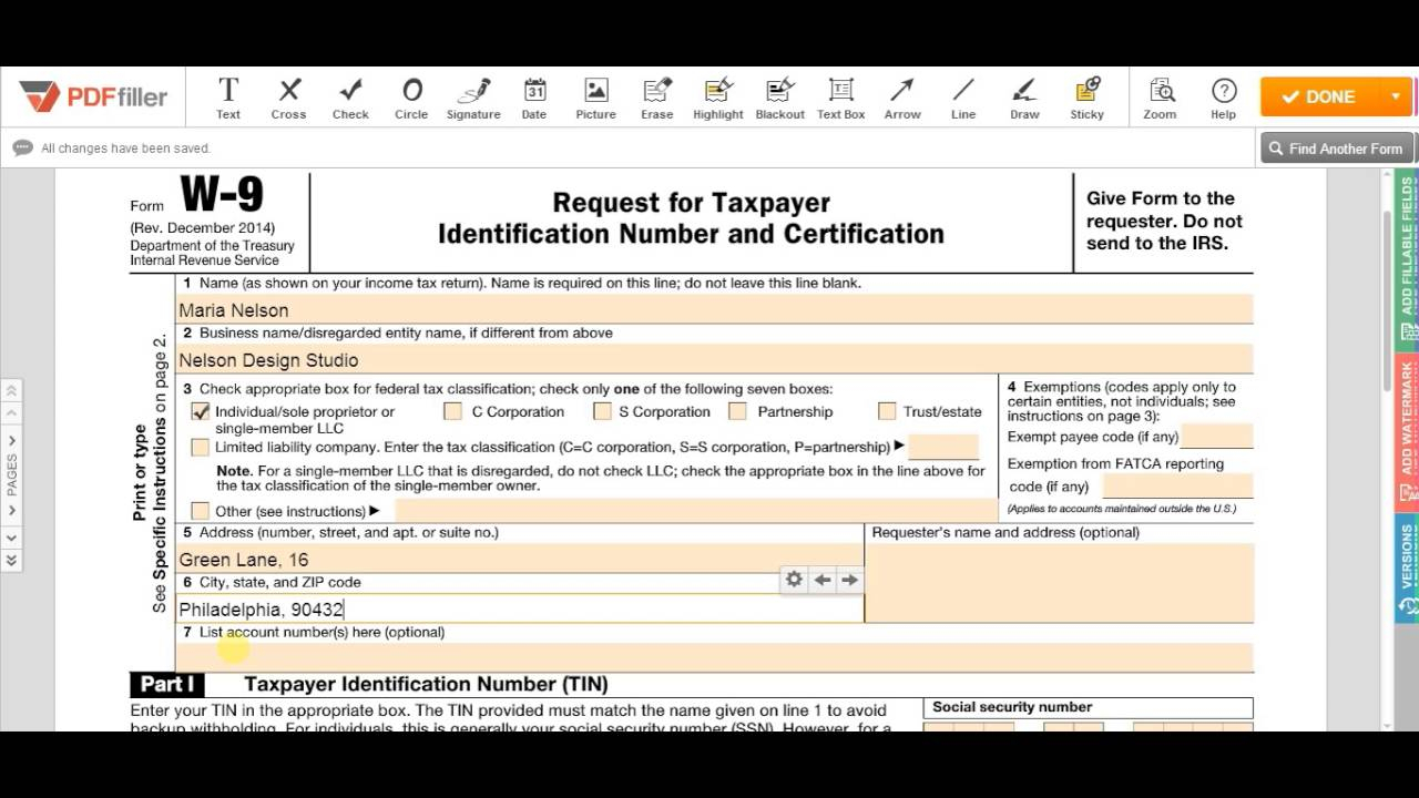 2018-2021 Form Irs W-9 Fill Online, Printable, Fillable, Blank - Pdffiller