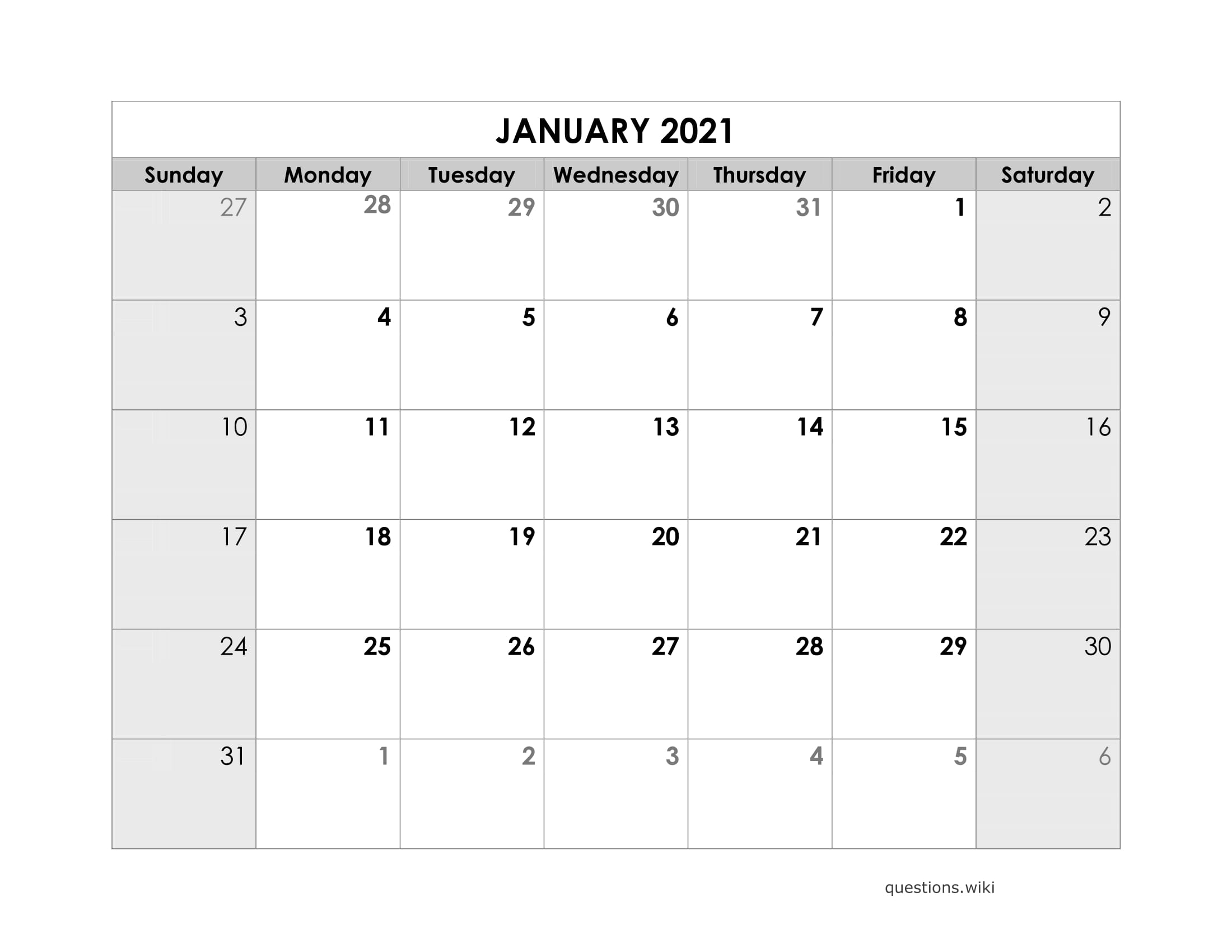 2021 Calendar Online Download Free Printable With Months