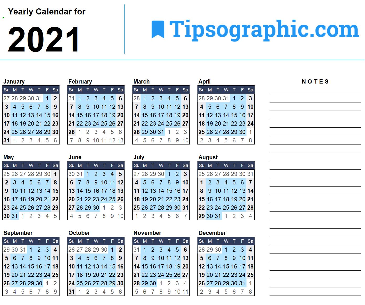 2021 Calendar Templates & Images